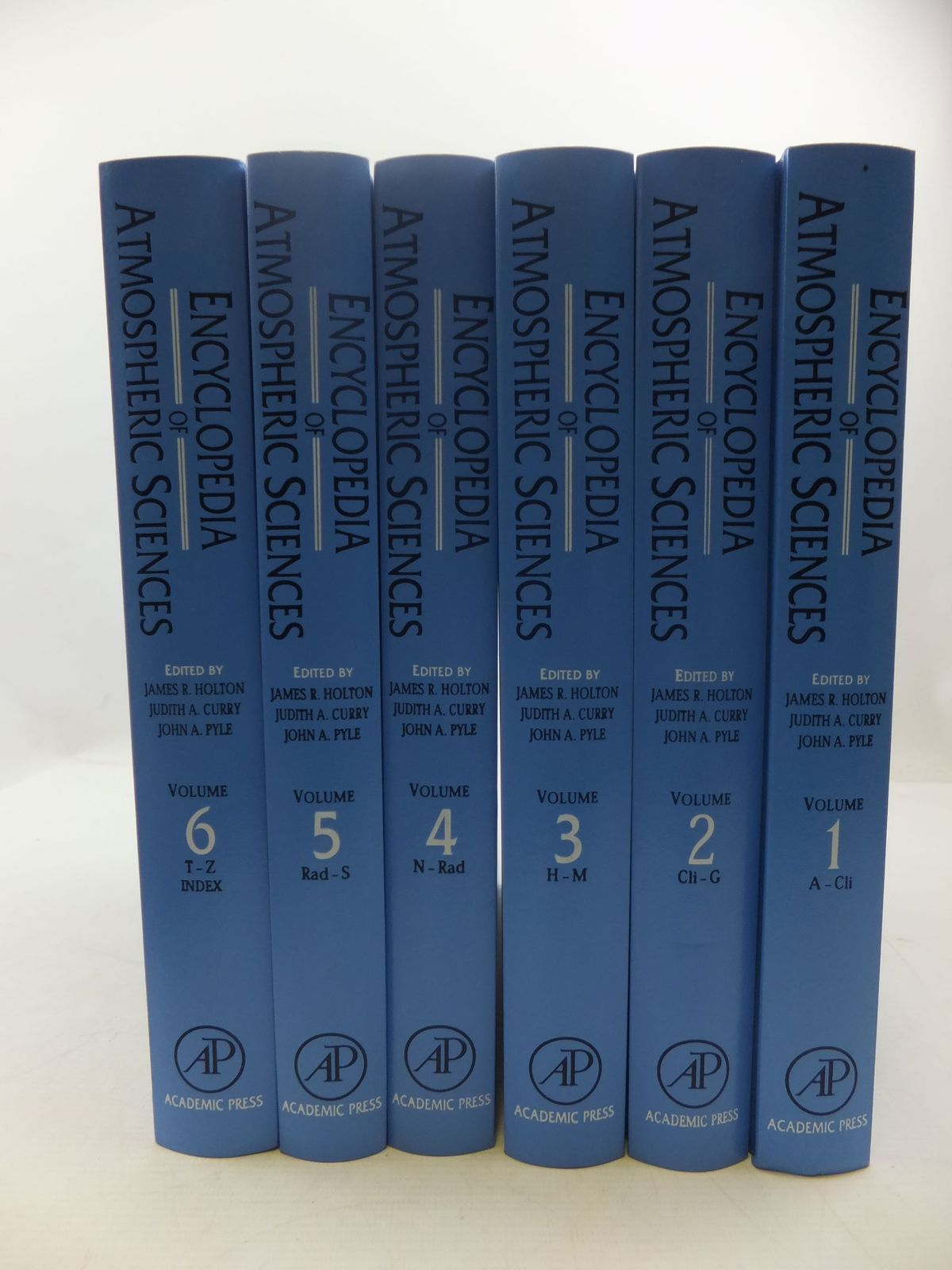 Photo of ENCYCLOPEDIA OF ATMOSPHERIC SCIENCES (6 VOLUME SET) written by Holton, James R. Curry, Judith A. Pyle, John A. published by Academic Press (STOCK CODE: 2111775)  for sale by Stella & Rose's Books