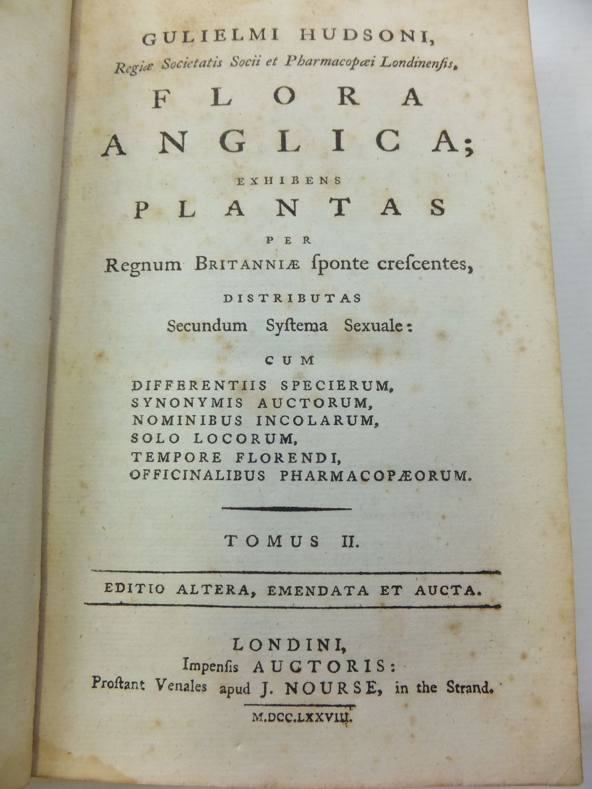 Photo of FLORA ANGLICA (2 VOLUMES) written by Hudsoni, Gulielmi (STOCK CODE: 2112027)  for sale by Stella & Rose's Books