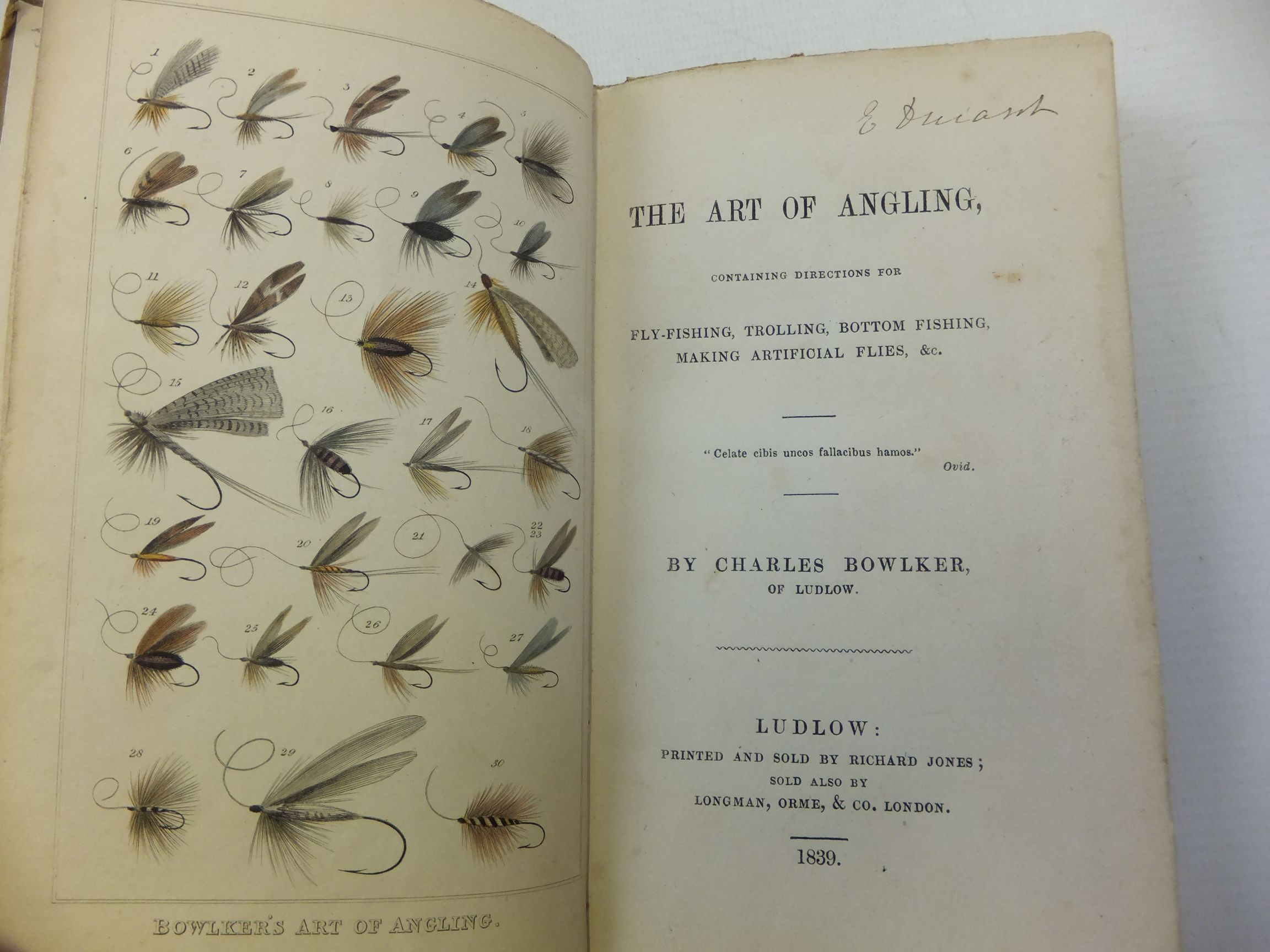 Photo of THE ART OF ANGLING written by Bowlker, Richard published by Longman, Orme And Co. (STOCK CODE: 2112412)  for sale by Stella & Rose's Books