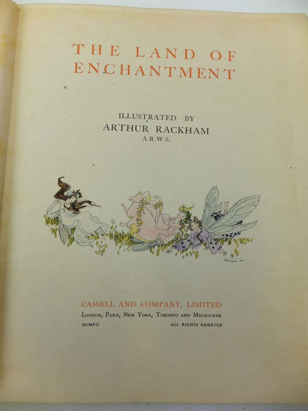 Photo of THE LAND OF ENCHANTMENT written by Bonser, A.E. Woolf, Sidney Bucheim, E.S. illustrated by Rackham, Arthur published by Cassell & Co. Ltd. (STOCK CODE: 2113416)  for sale by Stella & Rose's Books