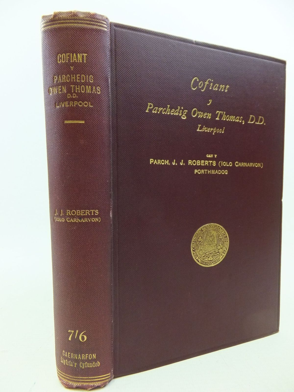 Photo of COFIANT Y PARCHEDIG OWEN THOMAS, D.D., LIVERPOOL written by Roberts, J.J. published by Cyhoeddedig Gan D. O'Brien Owen (STOCK CODE: 2113539)  for sale by Stella & Rose's Books