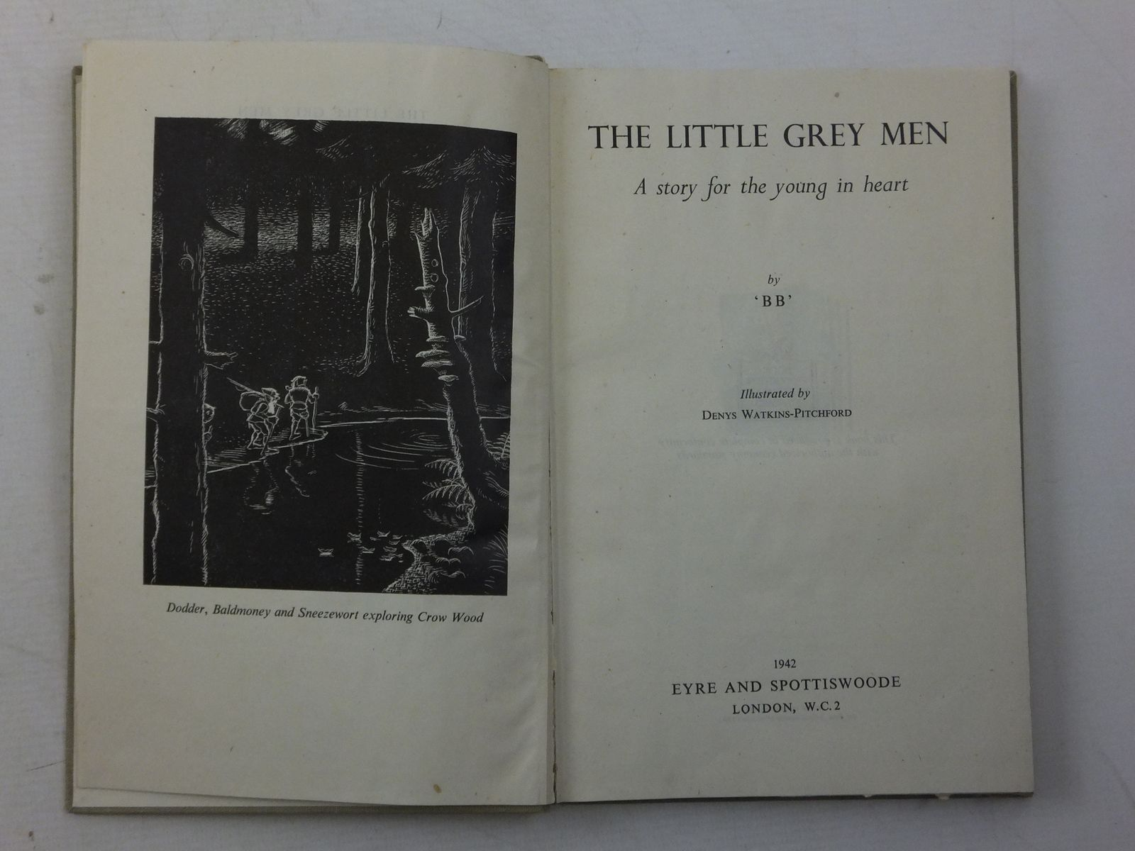Photo of THE LITTLE GREY MEN written by BB,  illustrated by BB,  published by Eyre & Spottiswoode (STOCK CODE: 2113813)  for sale by Stella & Rose's Books