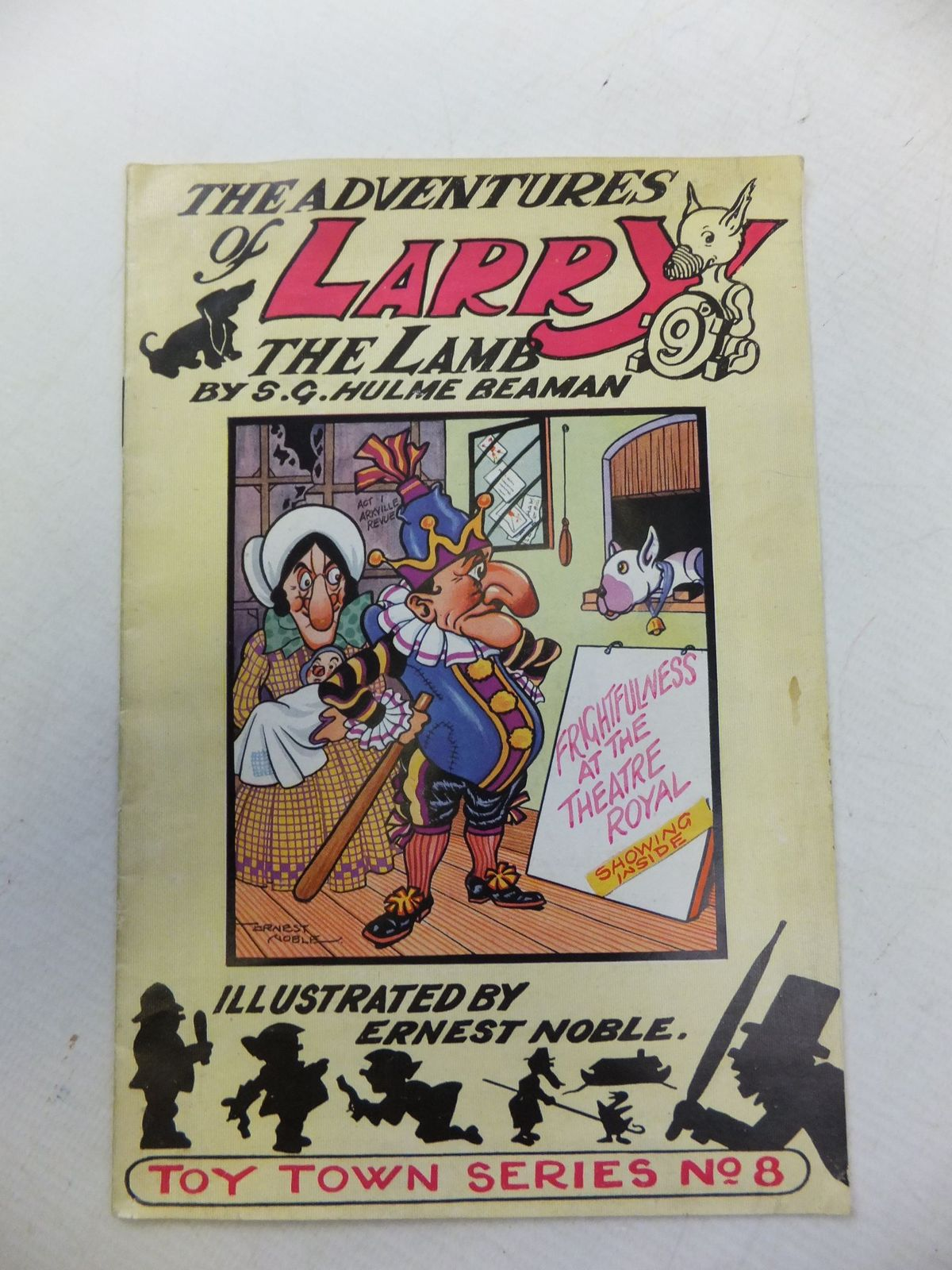 Photo of THE ADVENTURES OF LARRY THE LAMB - FRIGHTFULNESS AT THE THEATRE ROYAL written by Beaman, S.G. Hulme illustrated by Noble, Ernest published by George Lapworth & Co (STOCK CODE: 2114512)  for sale by Stella & Rose's Books