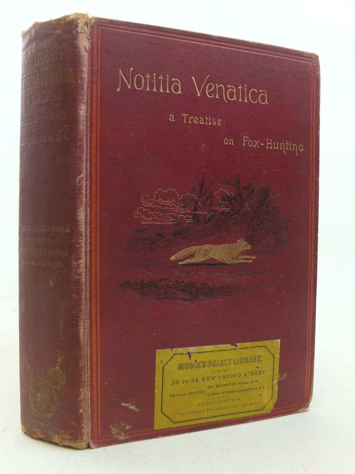 Photo of NOTITIA VENATICA A TREATISE ON FOX-HUNTING written by Vyner, Robert T.<br />Blew, William C.A. illustrated by Aiken, Henry<br />et al., published by John C. Nimmo (STOCK CODE: 2114975)  for sale by Stella & Rose's Books