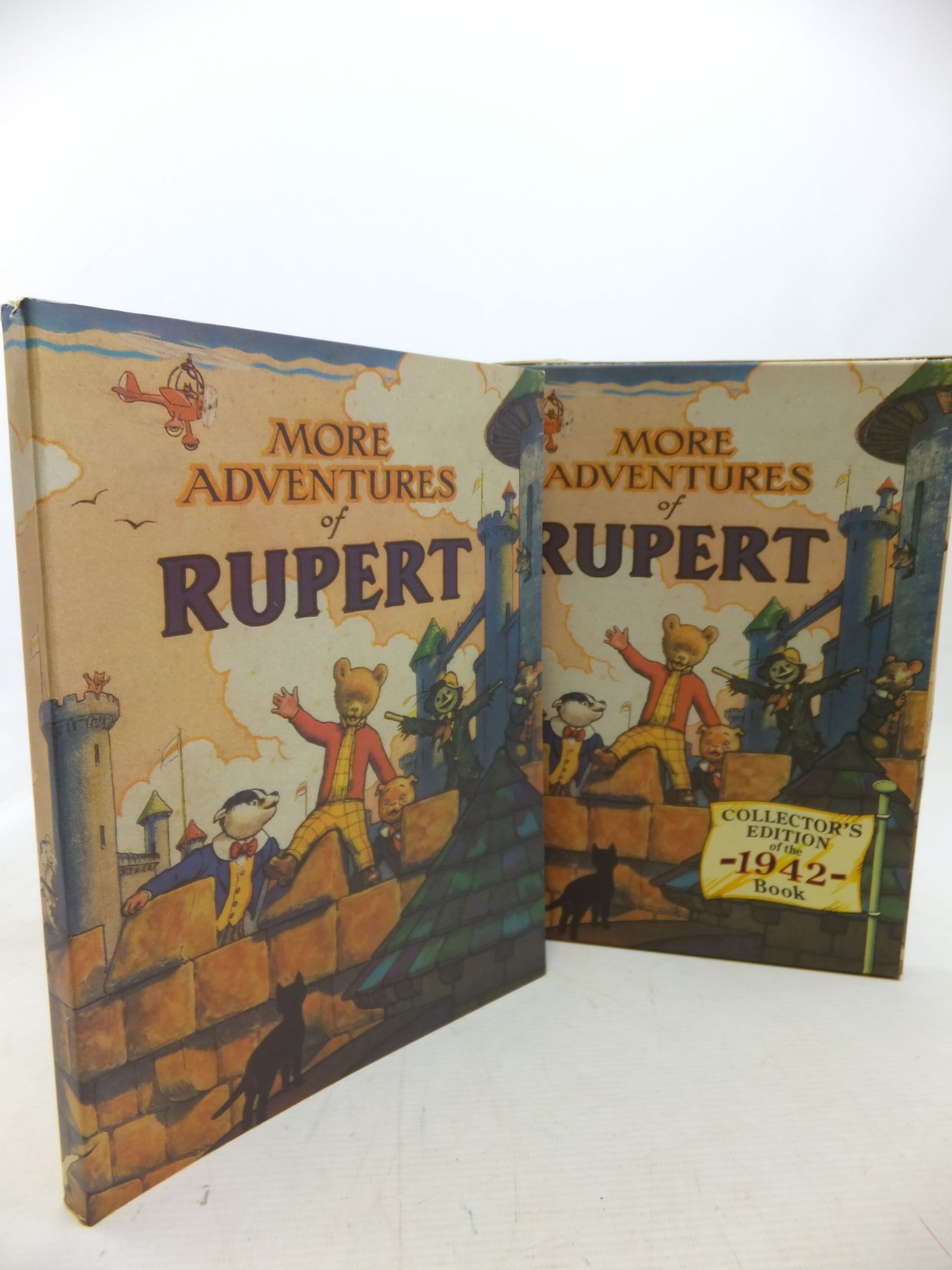 Photo of RUPERT ANNUAL 1942 (FACSIMILE) - MORE ADVENTURES OF RUPERT written by Bestall, Alfred illustrated by Bestall, Alfred published by Pedigree Books Limited (STOCK CODE: 2115314)  for sale by Stella & Rose's Books