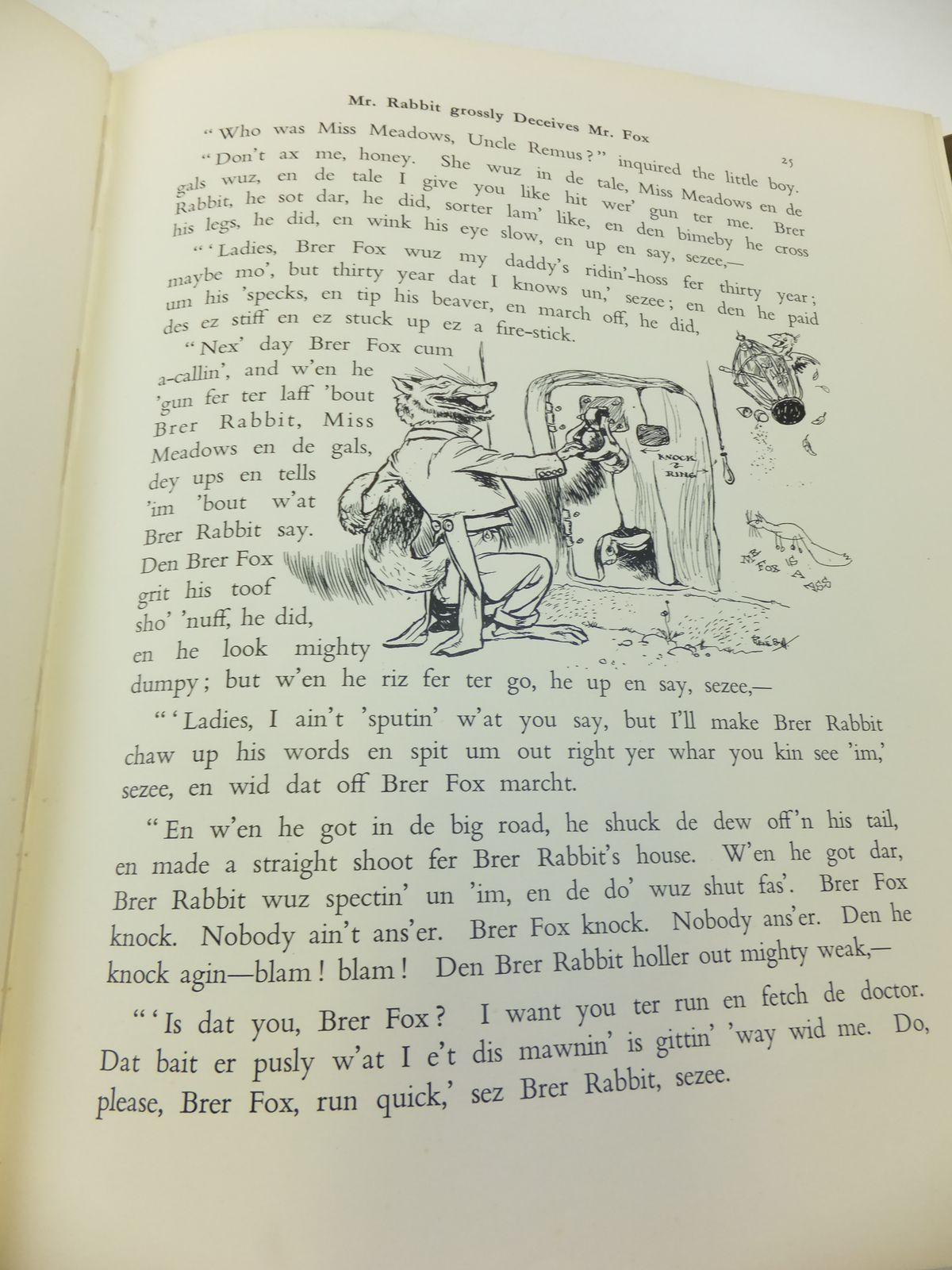 Photo of UNCLE REMUS OR THE STORY OF MR. FOX AND BRER RABBIT written by Harris, Joel Chandler illustrated by Rountree, Harry