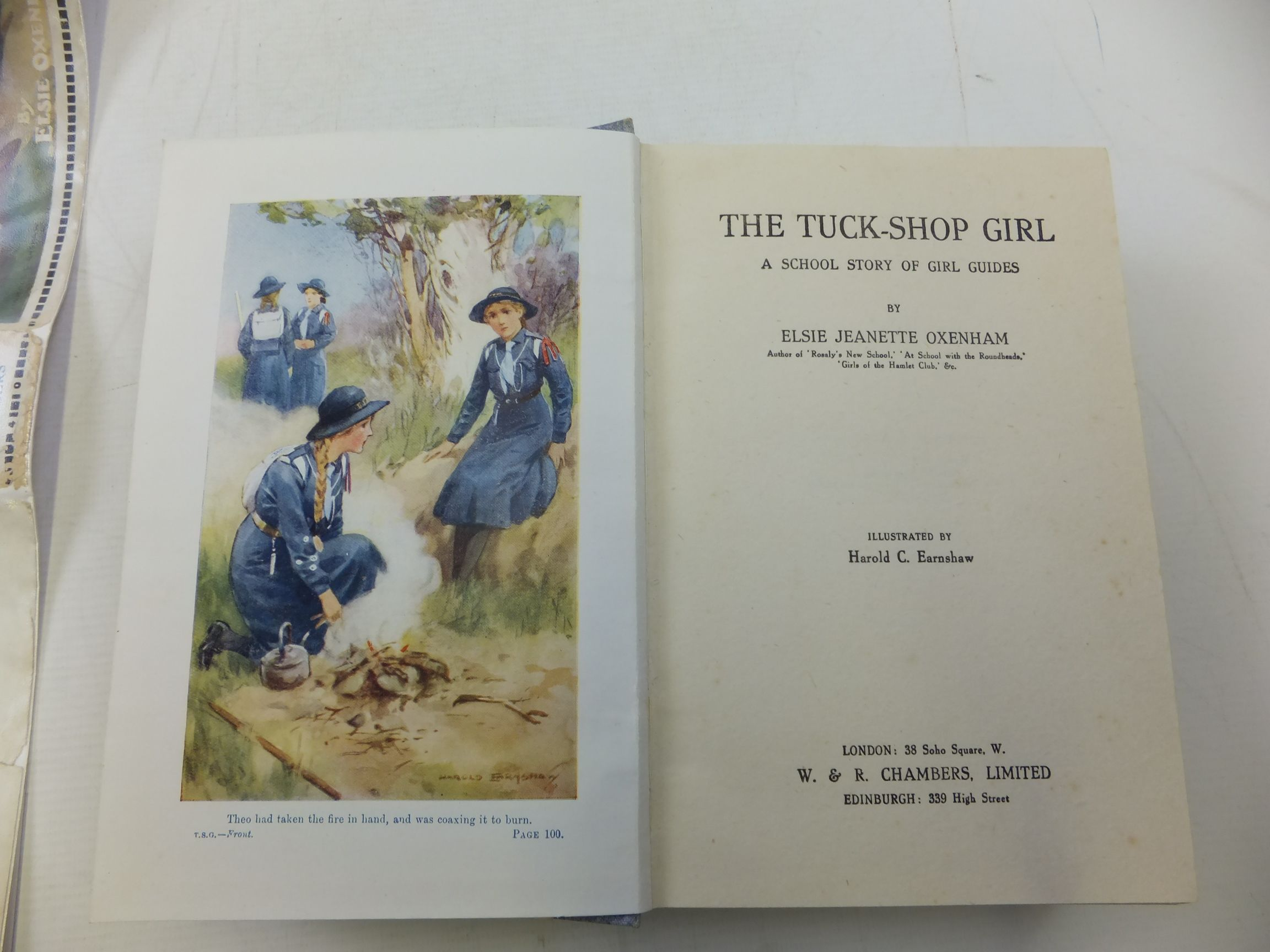 Photo of THE TUCK-SHOP GIRL written by Oxenham, Elsie J. illustrated by Earnshaw, Harold C. published by W. & R. Chambers Limited (STOCK CODE: 2116029)  for sale by Stella & Rose's Books