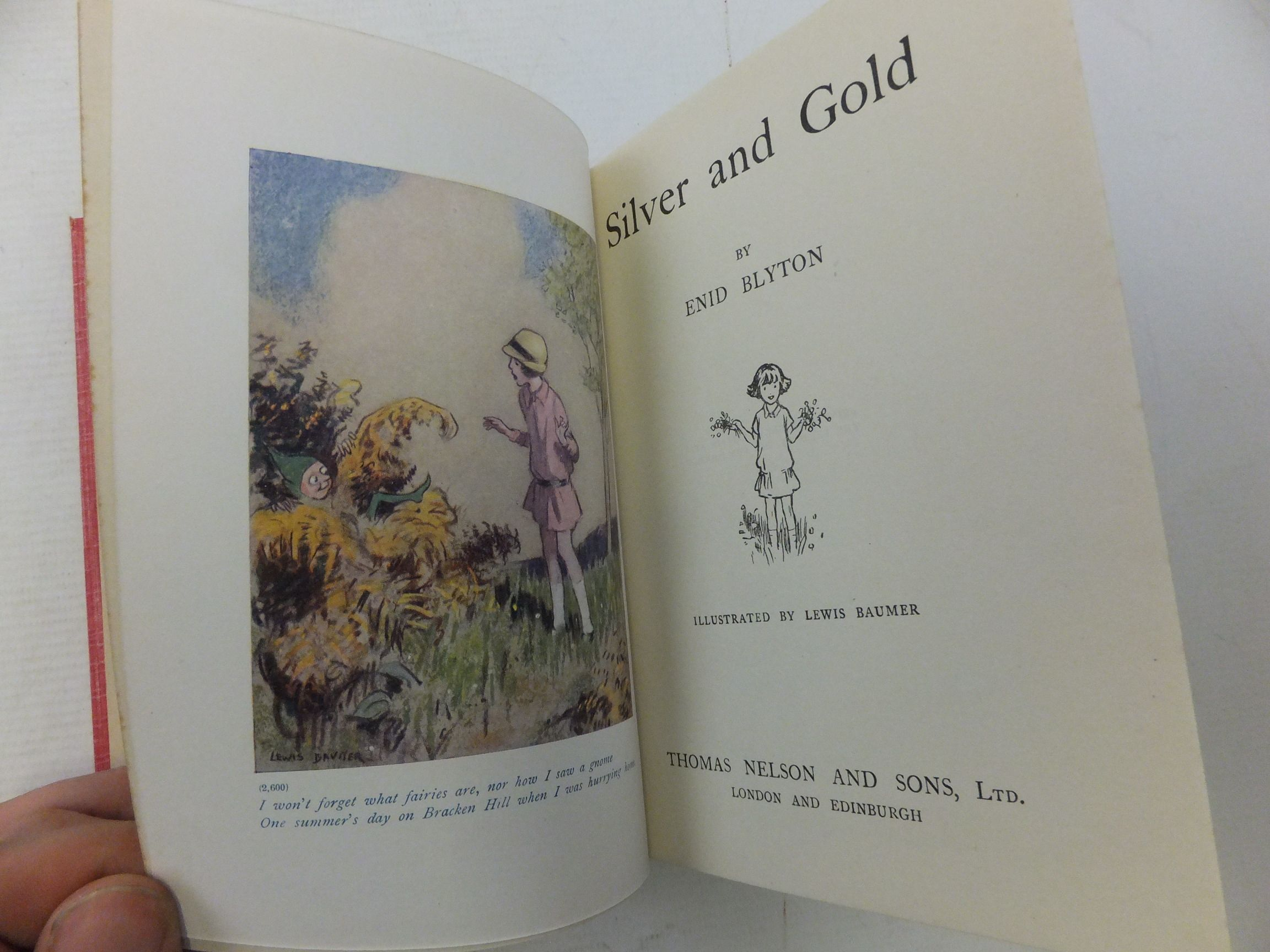 Photo of SILVER AND GOLD written by Blyton, Enid illustrated by Baumer, Lewis published by Thomas Nelson and Sons Ltd. (STOCK CODE: 2116037)  for sale by Stella & Rose's Books