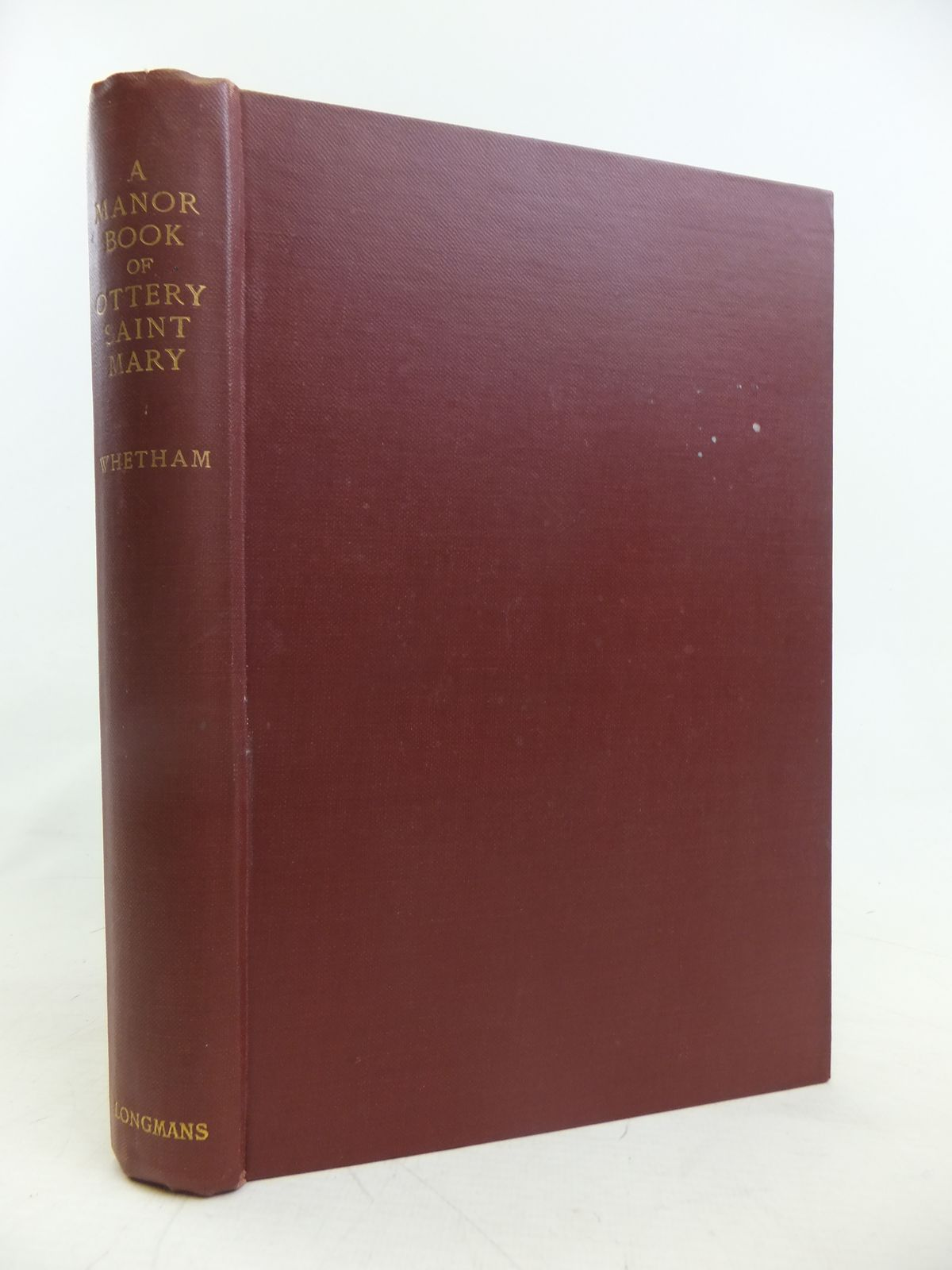 Photo of A MANOR BOOK OF OTTERY SAINT MARY written by Whetham, Catherine Durning Whetham, Margaret Whetham, W.C.D. published by Longmans, Green & Co. (STOCK CODE: 2116763)  for sale by Stella & Rose's Books