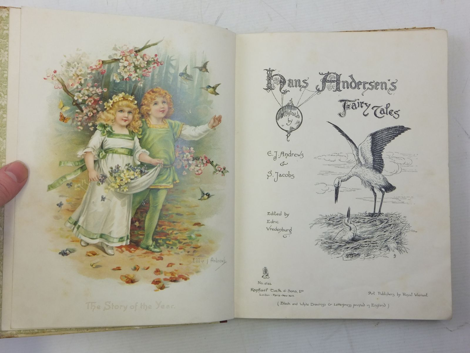 Photo of HANS ANDERSEN'S FAIRY TALES written by Andersen, Hans Christian illustrated by Andrews, E.J.<br />Jacobs, S. published by Raphael Tuck &amp; Sons Ltd. (STOCK CODE: 2118168)  for sale by Stella & Rose's Books