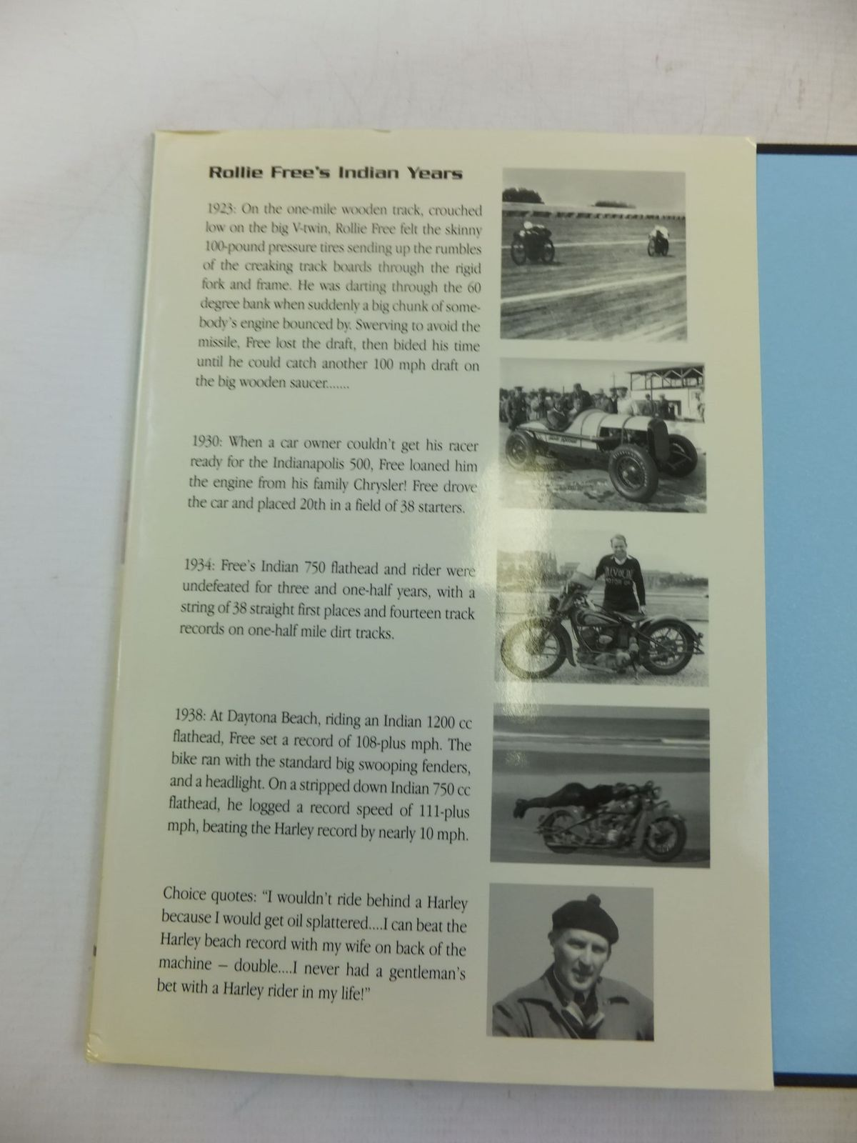 Photo of FLAT OUT! THE ROLLIE FREE STORY written by Hatfield, Jerry published by Herb Harris (STOCK CODE: 2118405)  for sale by Stella & Rose's Books