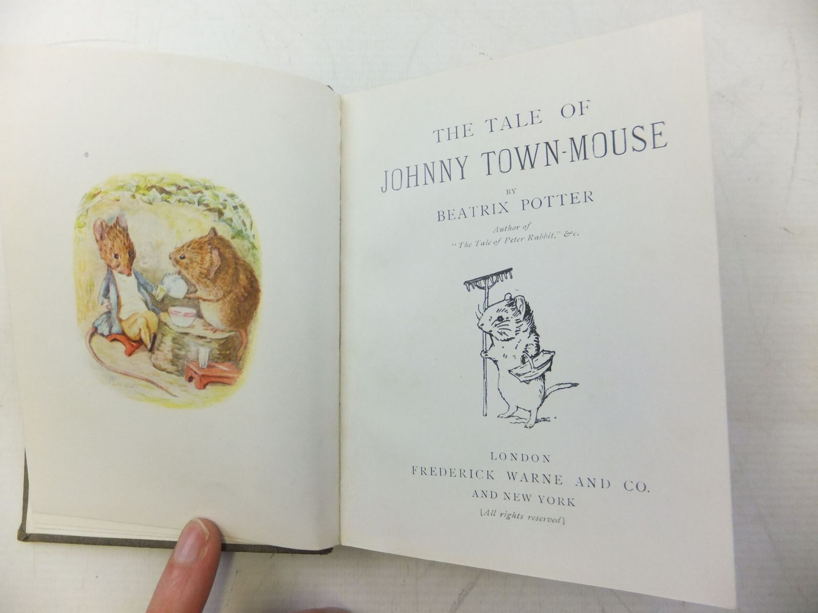 Photo of THE TALE OF JOHNNY TOWN-MOUSE written by Potter, Beatrix illustrated by Potter, Beatrix published by Frederick Warne & Co. (STOCK CODE: 2118591)  for sale by Stella & Rose's Books