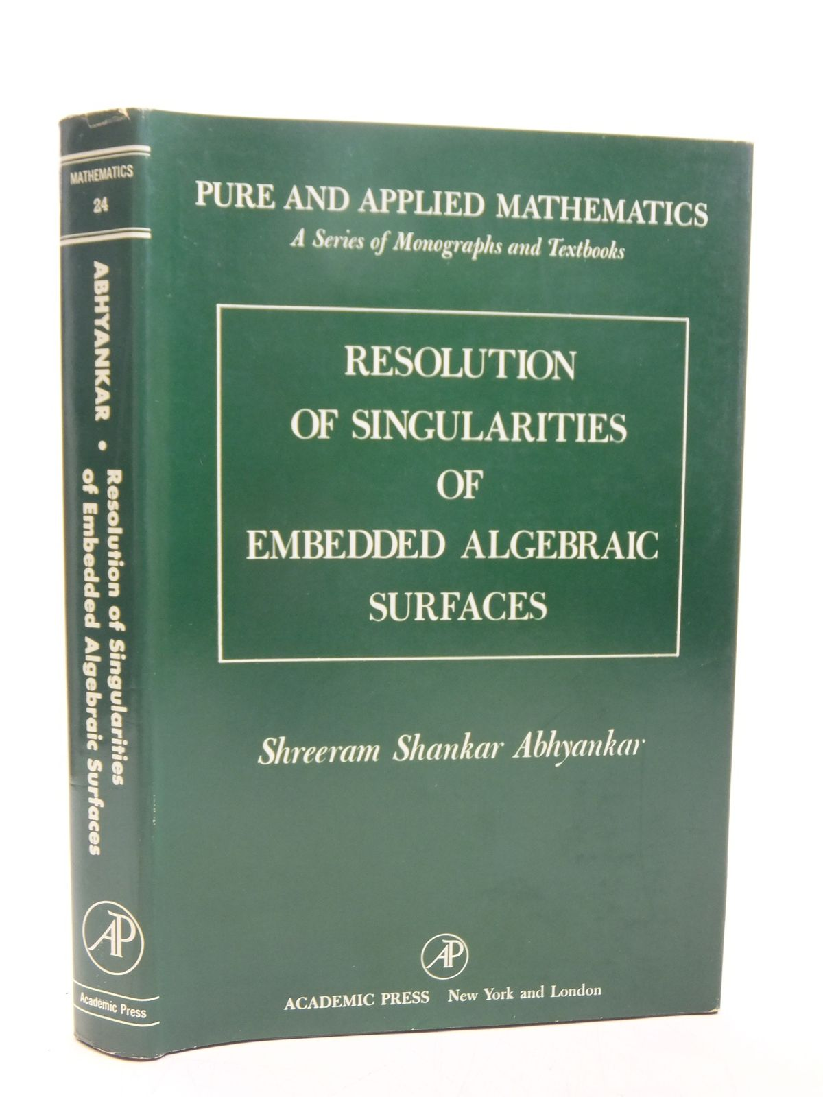 Photo of RESOLUTION OF SINGULARITIES OF EMBEDDED ALGEBRAIC SURFACES written by Abhyankar, Shreeram Shankar published by Academic Press (STOCK CODE: 2118857)  for sale by Stella & Rose's Books