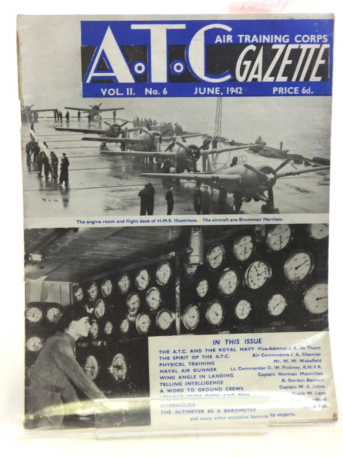 Photo of AIR TRAINING CORPS GAZETTE VOL. II No. 6 JUNE 1942 written by Johns, W.E. et al, published by The Air League Of The British Empire (STOCK CODE: 2119953)  for sale by Stella & Rose's Books