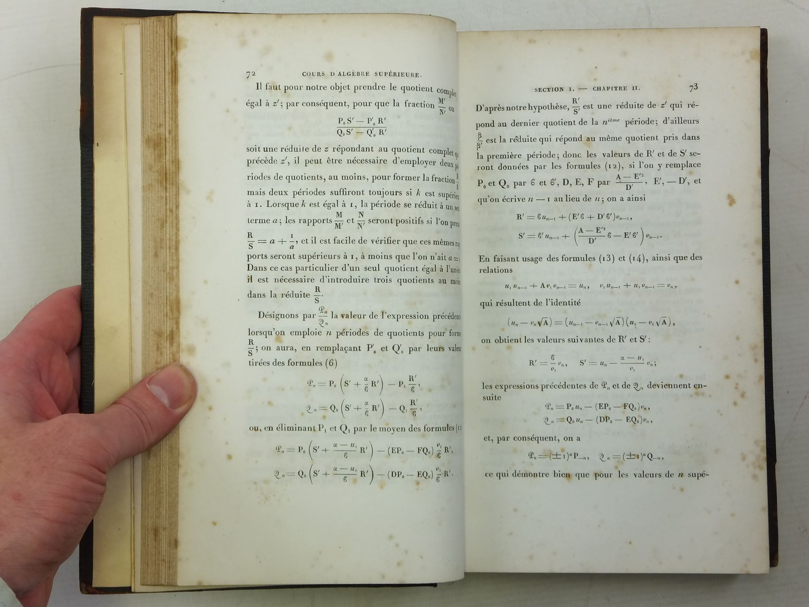 Photo of COURS D'ALGEBRE SUPERIEURE written by Serret, J.A. published by Gauthier-Villars (STOCK CODE: 2120000)  for sale by Stella & Rose's Books