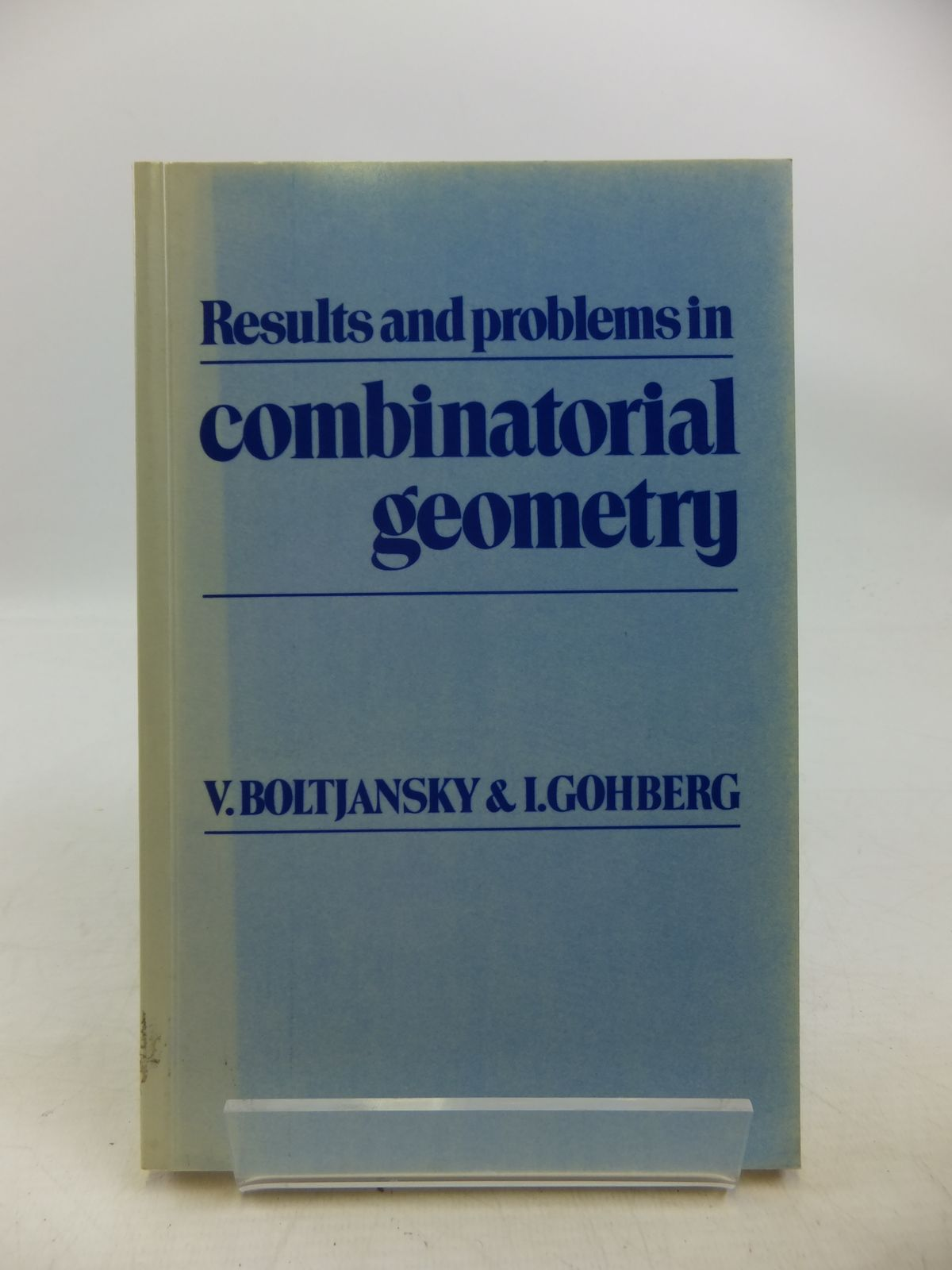 Photo of RESULTS AND PROBLEMS IN COMBINATORIAL GEOMETRY written by Boltjansky, V. Gohberg, I. published by Cambridge University Press (STOCK CODE: 2120297)  for sale by Stella & Rose's Books
