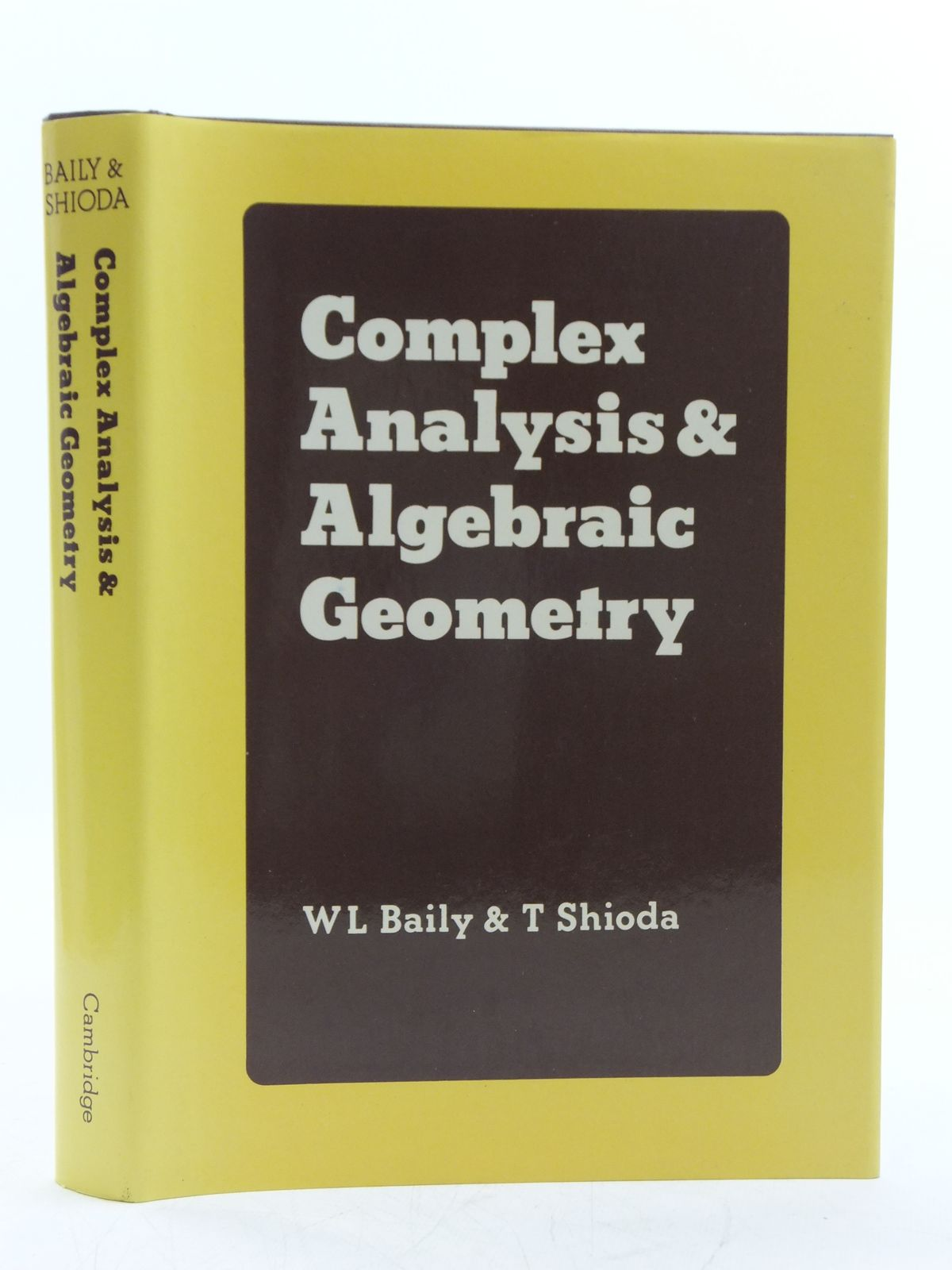 Photo of COMPLEX ANALYSIS AND ALGEBRAIC GEOMETRY written by Baily, W.L. Shioda, T. published by Cambridge University Press (STOCK CODE: 2120465)  for sale by Stella & Rose's Books