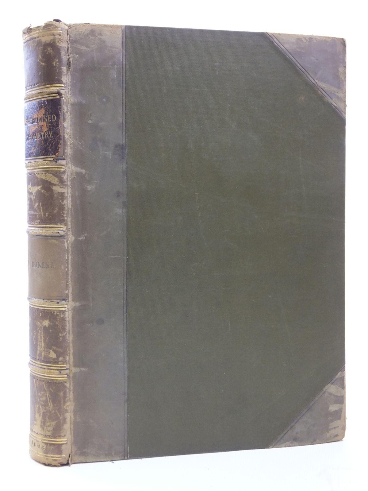Photo of GRUNDZUGE DER GEOMETRIE VON MEHREREN DIMENSIONEN UND MEHREREN ARTEN GRADLINIGER EINHEITEN IN ELEMENTARER FORM ENTWICKELT written by Veronese, Giuseppe Schepp, A. published by Druck Und Verlag Von B.G. Teubner (STOCK CODE: 2120879)  for sale by Stella & Rose's Books