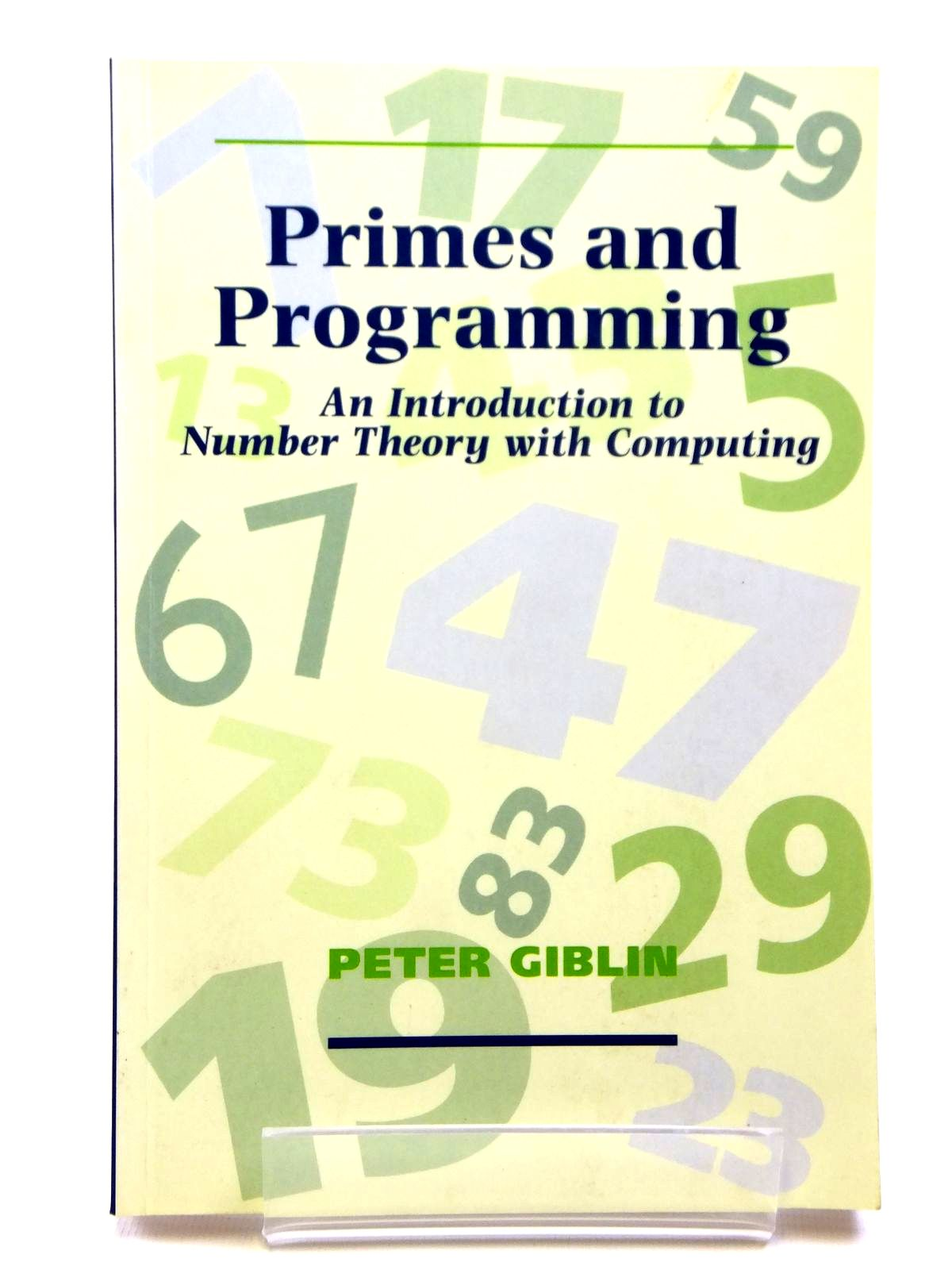 Photo of PRIMES AND PROGRAMMING- Stock Number: 2121083