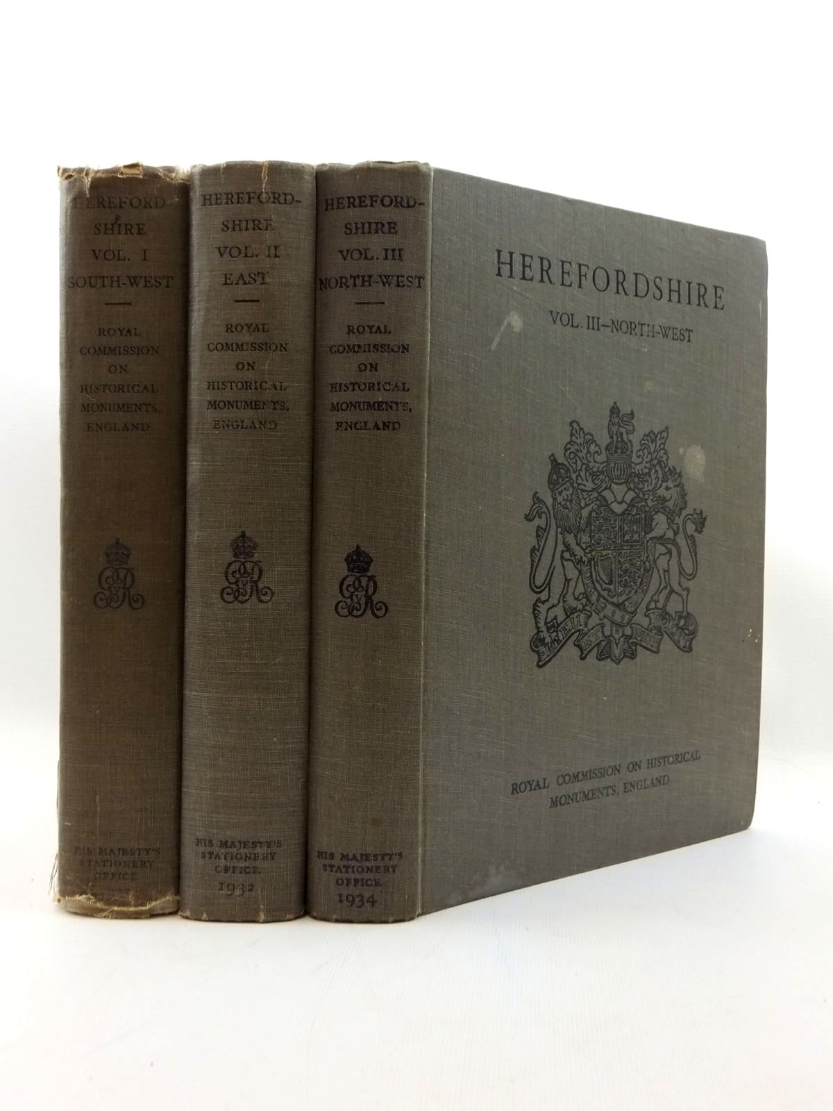 Photo of AN INVENTORY OF THE HISTORICAL MONUMENTS IN HEREFORDSHIRE (3 VOLUMES)- Stock Number: 2123316
