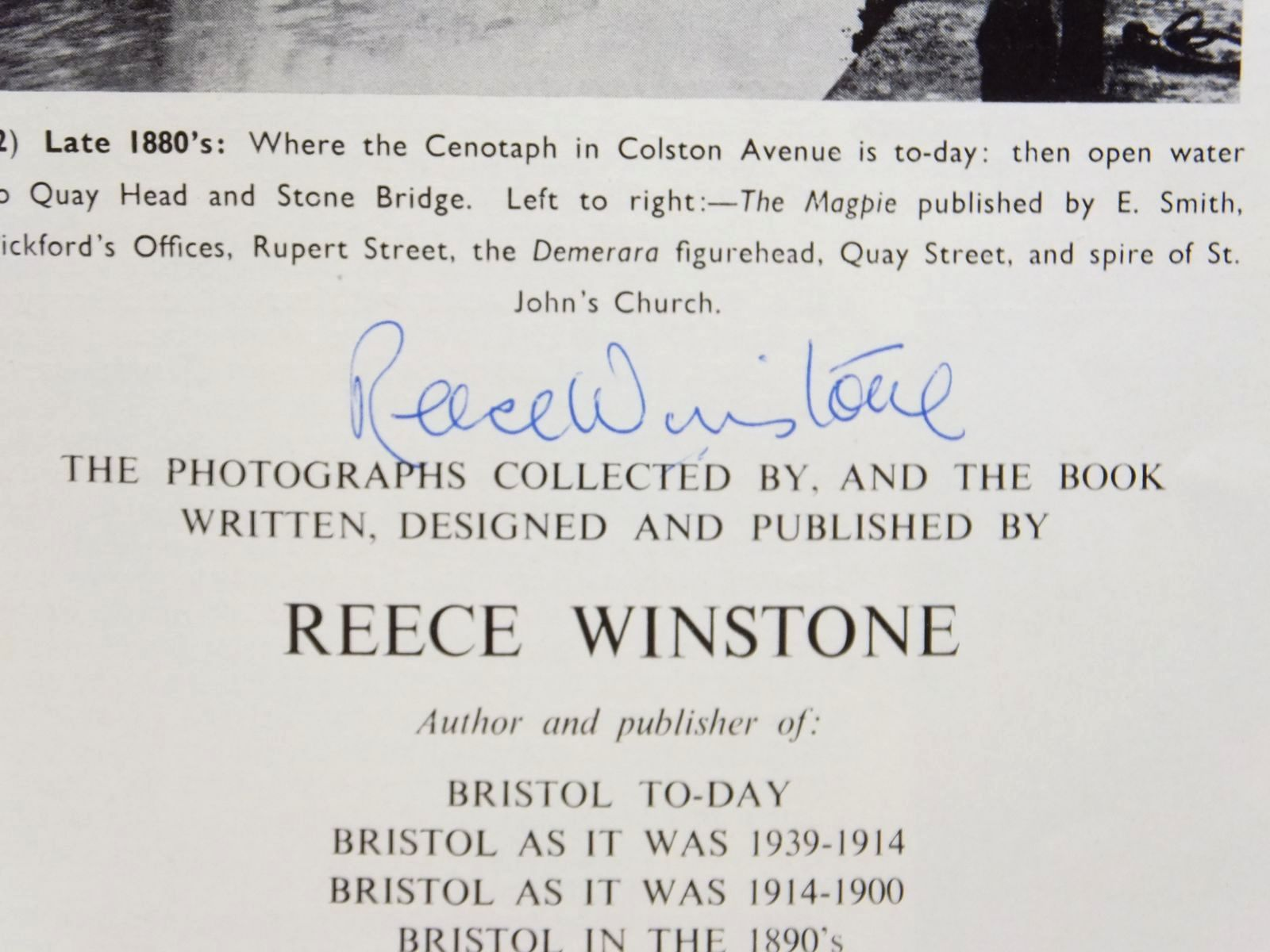 Photo of BRISTOL IN THE 1880'S written by Winstone, Reece published by Reece Winstone (STOCK CODE: 2123423)  for sale by Stella & Rose's Books