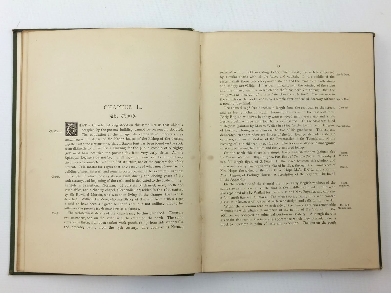 Photo of HISTORY AND DESCRIPTION OF THE PARISH OF BOSBURY written by Bentley, Samuel illustrated by Harrison, Arthur published by J. Masters And Co. (STOCK CODE: 2123522)  for sale by Stella & Rose's Books
