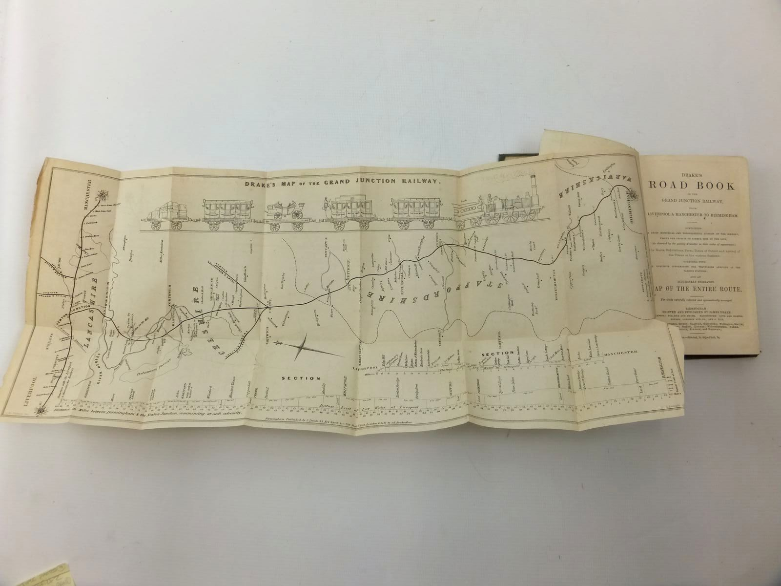 Photo of DRAKE'S ROAD BOOK OF THE GRAND JUNCTION RAILWAY, FROM LIVERPOOL & MANCHESTER TO BIRMINGHAM published by James Drake, Longman And Co. (STOCK CODE: 2123646)  for sale by Stella & Rose's Books