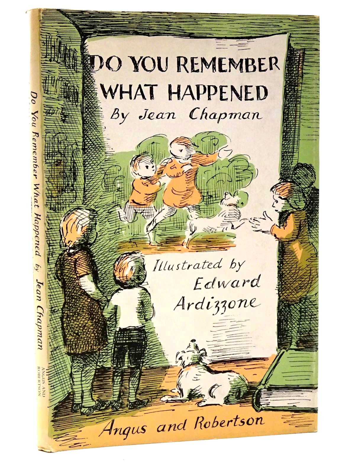 Photo of DO YOU REMEMBER WHAT HAPPENED? written by Chapman, Jean illustrated by Ardizzone, Edward published by Angus & Robertson (STOCK CODE: 2124291)  for sale by Stella & Rose's Books
