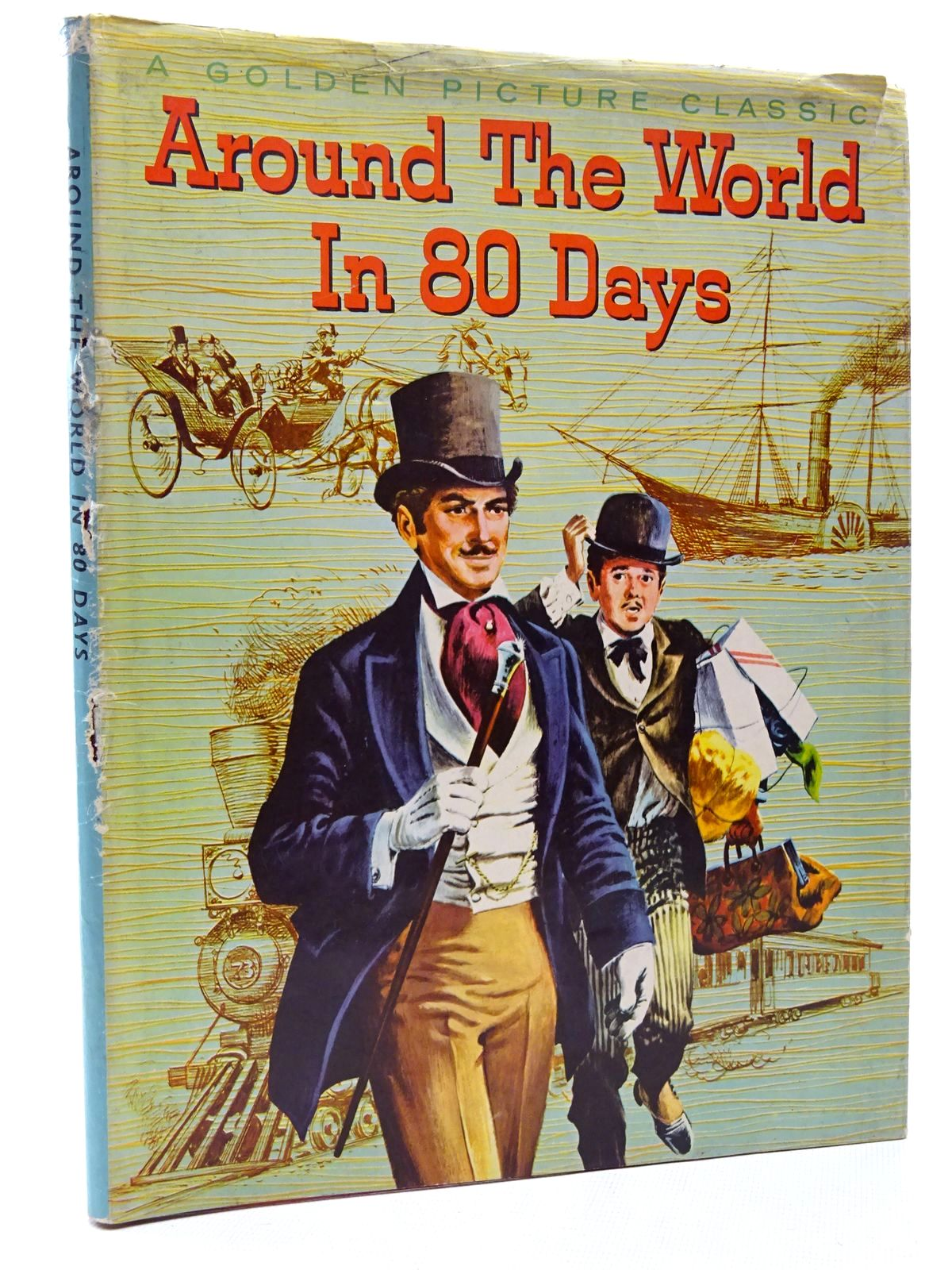 Photo of AROUND THE WORLD IN EIGHTY DAYS written by Verne, Jules Verral, Charles illustrated by Gill, Tom published by Purnell & Sons, Ltd. (STOCK CODE: 2124311)  for sale by Stella & Rose's Books