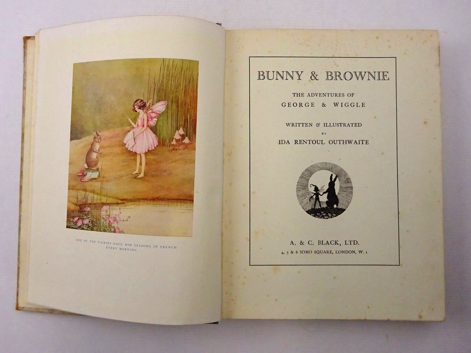 Photo of BUNNY AND BROWNIE THE ADVENTURES OF GEORGE AND WIGGLE written by Outhwaite, Ida Rentoul illustrated by Outhwaite, Ida Rentoul published by A. & C. Black Ltd. (STOCK CODE: 2124511)  for sale by Stella & Rose's Books
