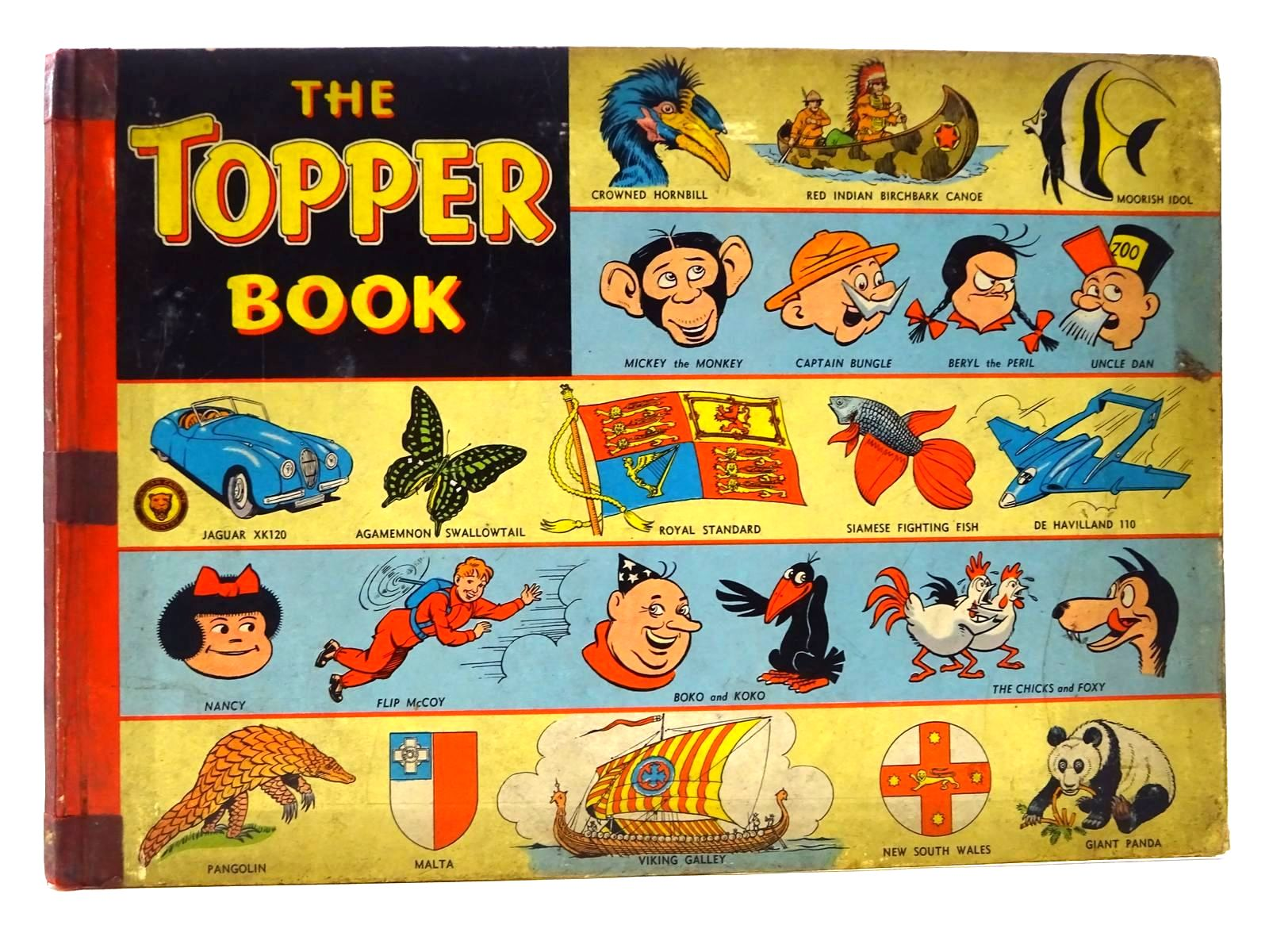 Photo of THE TOPPER BOOK 1955 published by D.C. Thomson & Co Ltd., John Leng & Co. Ltd. (STOCK CODE: 2124637)  for sale by Stella & Rose's Books