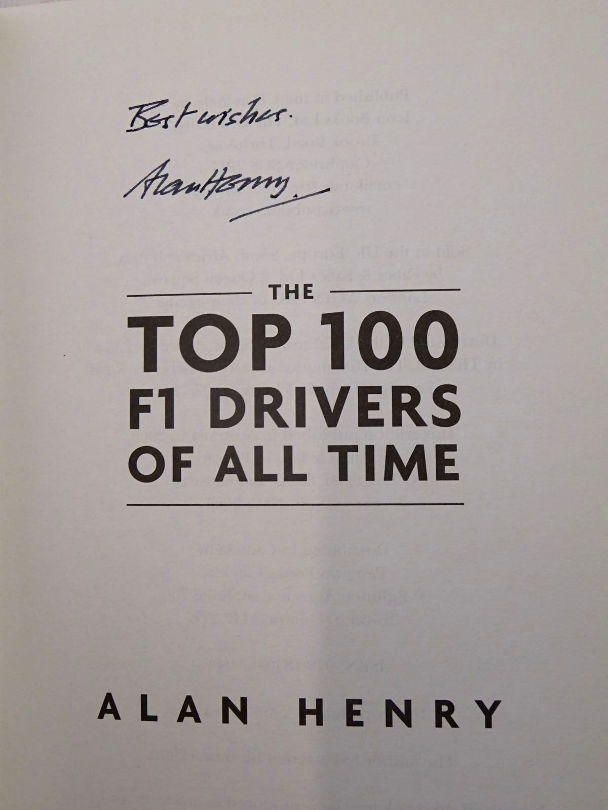 Photo of THE TOP 100 F1 DRIVERS OF ALL TIME written by Henry, Alan published by Icon Books (STOCK CODE: 2125869)  for sale by Stella & Rose's Books