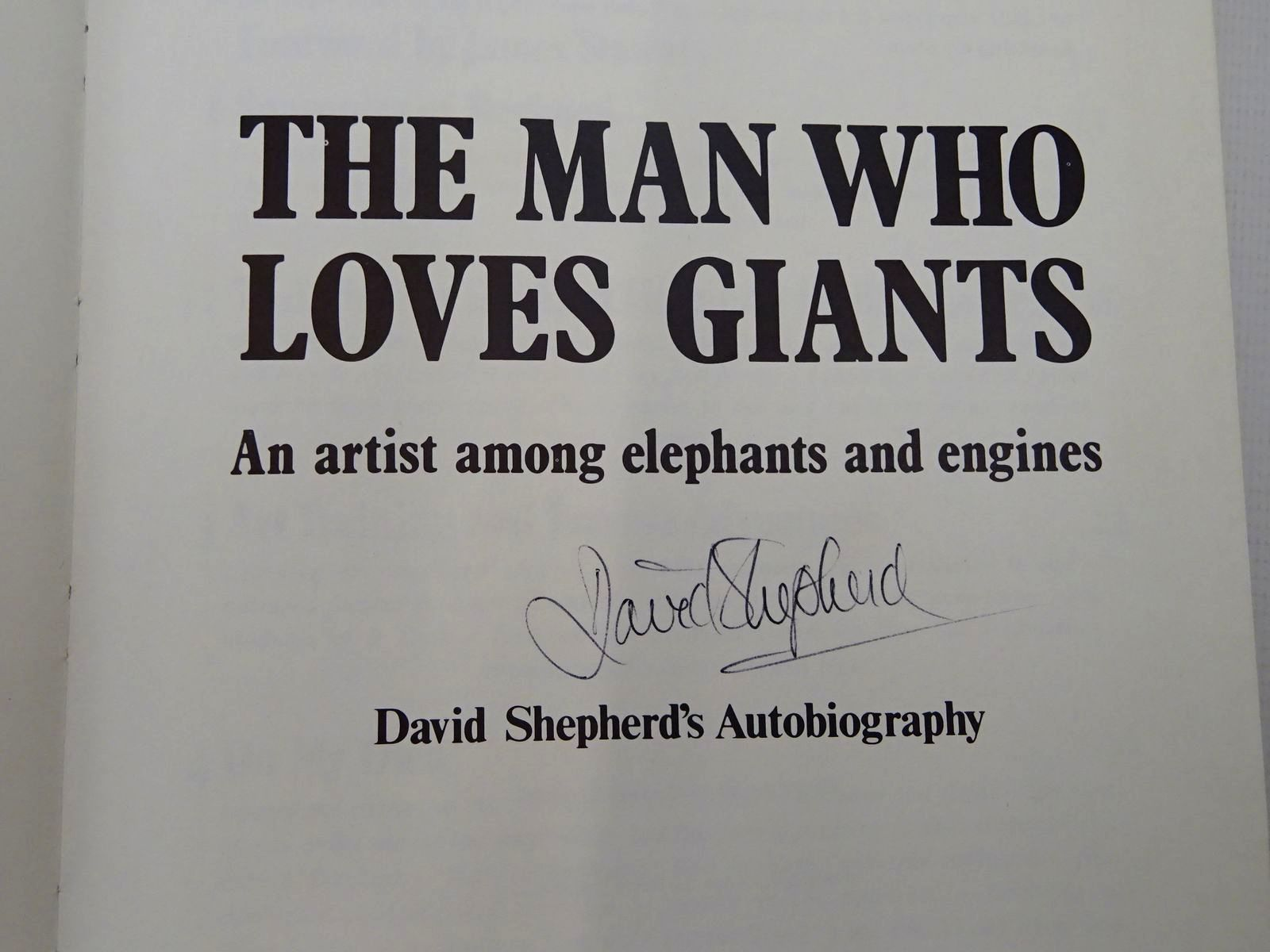 Photo of THE MAN WHO LOVES GIANTS written by Shepherd, David illustrated by Shepherd, David published by Charles Scribner's Sons (STOCK CODE: 2126866)  for sale by Stella & Rose's Books