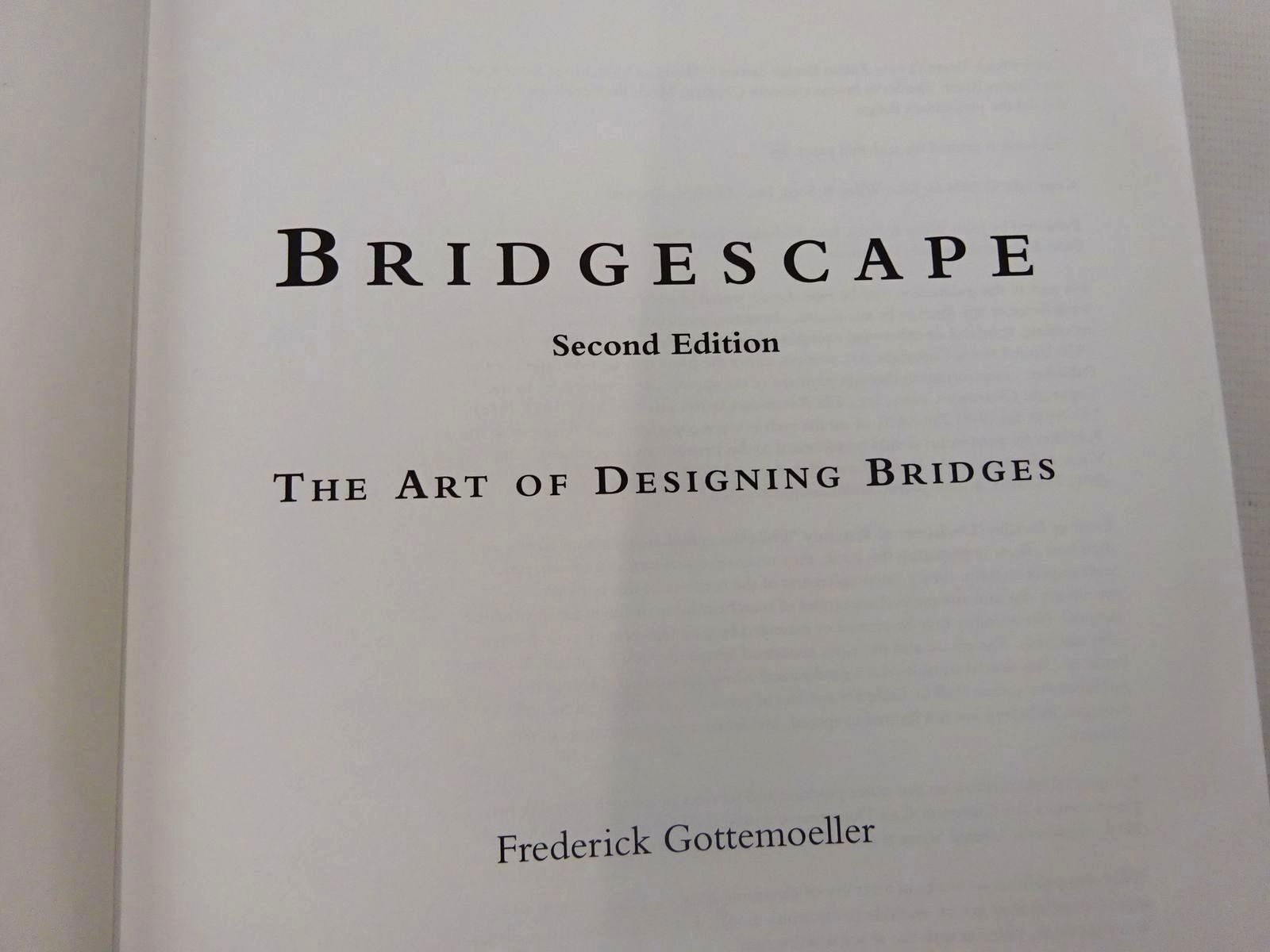 Photo of BRIDGESCAPE THE ART OF DESIGNING BRIDGES written by Gottemoeller, Frederick published by John Wiley & Sons (STOCK CODE: 2127064)  for sale by Stella & Rose's Books