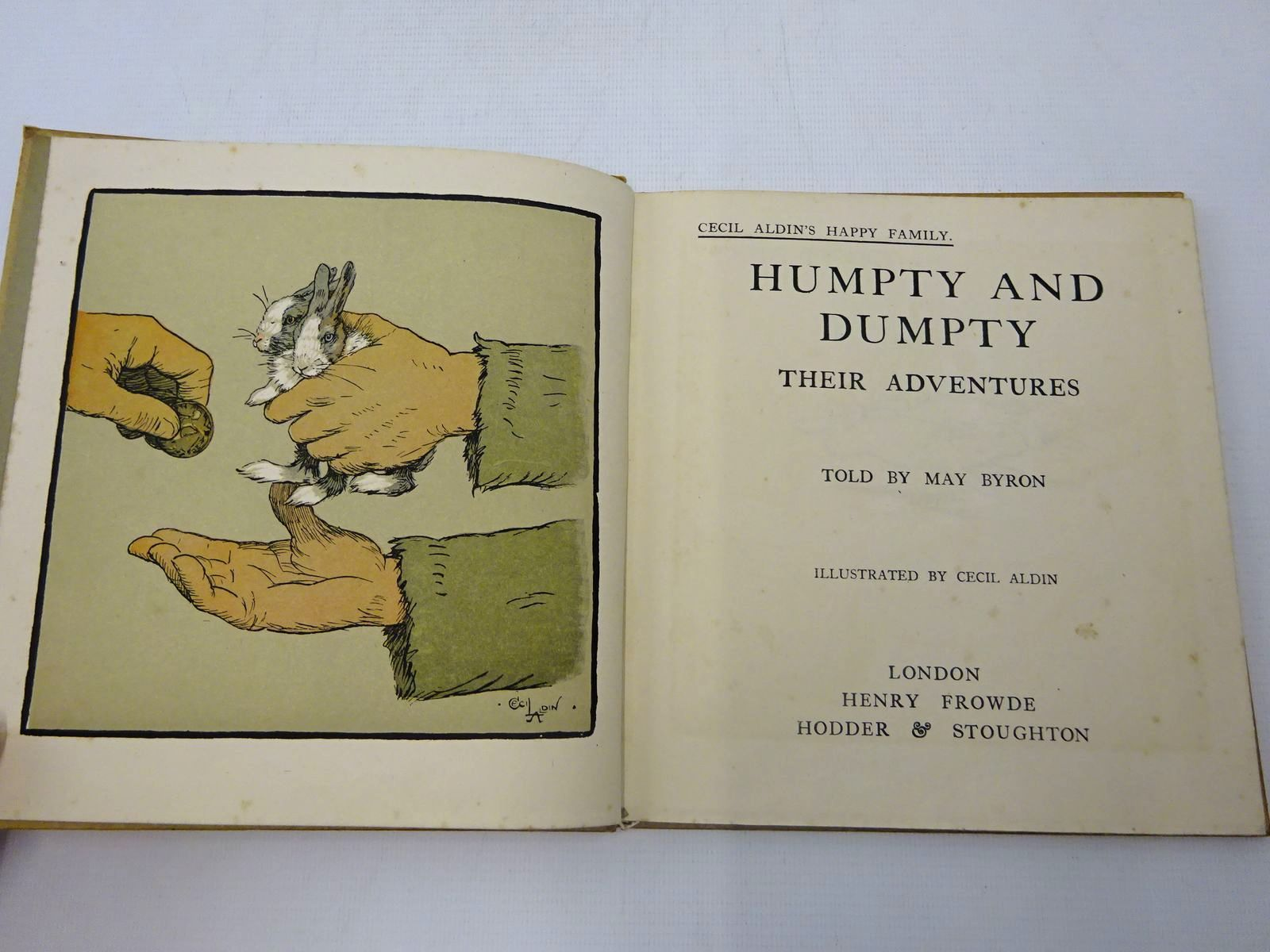 Photo of HUMPTY AND DUMPTY THEIR ADVENTURES written by Byron, May illustrated by Aldin, Cecil published by Henry Frowde, Hodder & Stoughton (STOCK CODE: 2127170)  for sale by Stella & Rose's Books