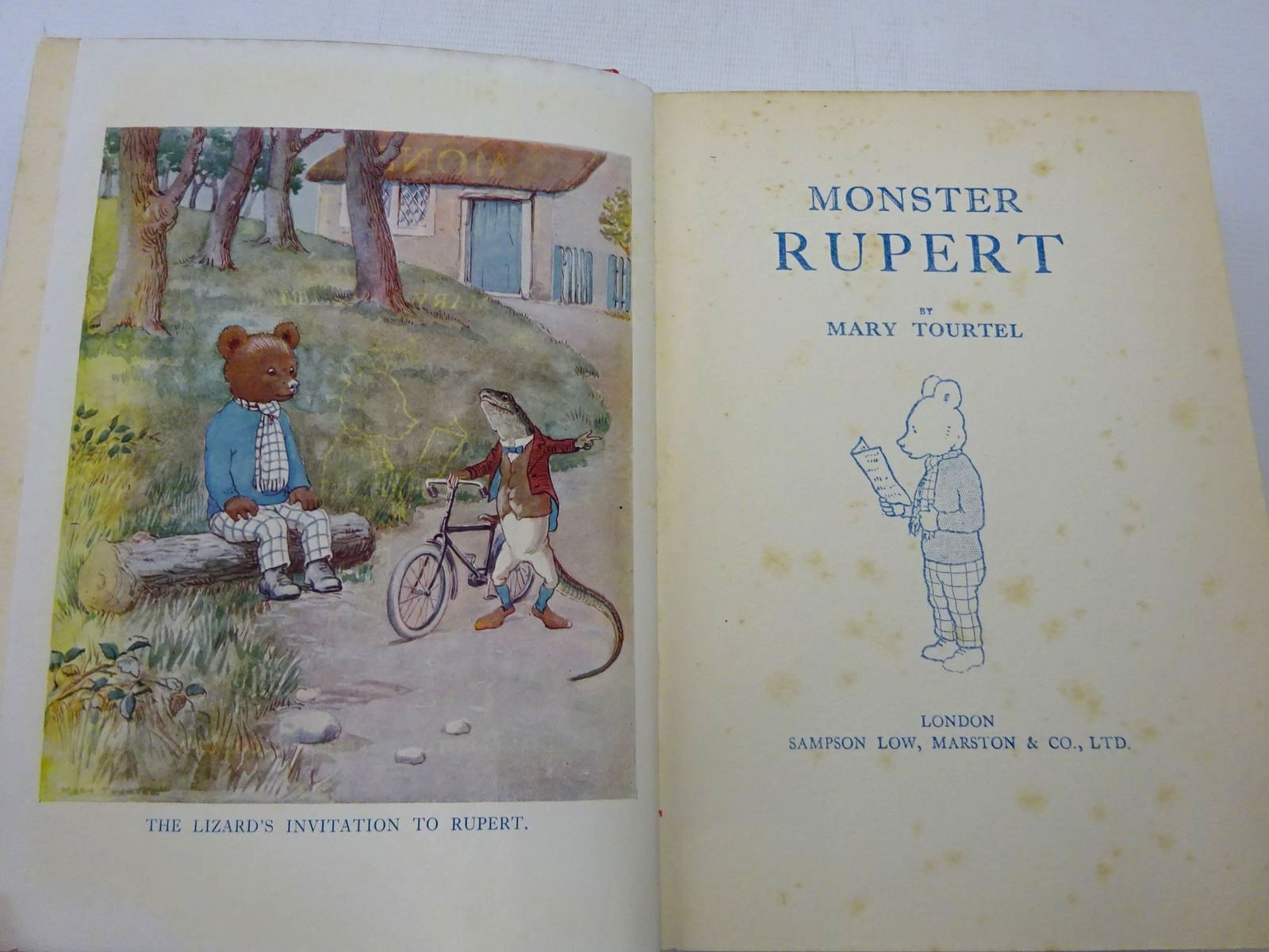Photo of MONSTER RUPERT 1932 written by Tourtel, Mary illustrated by Tourtel, Mary published by Sampson Low, Marston & Co. (STOCK CODE: 2127321)  for sale by Stella & Rose's Books