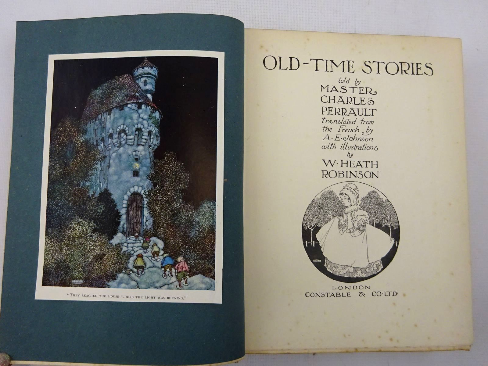 Photo of OLD-TIME STORIES written by Perrault, Charles illustrated by Robinson, W. Heath published by Constable & Co. Ltd. (STOCK CODE: 2127499)  for sale by Stella & Rose's Books