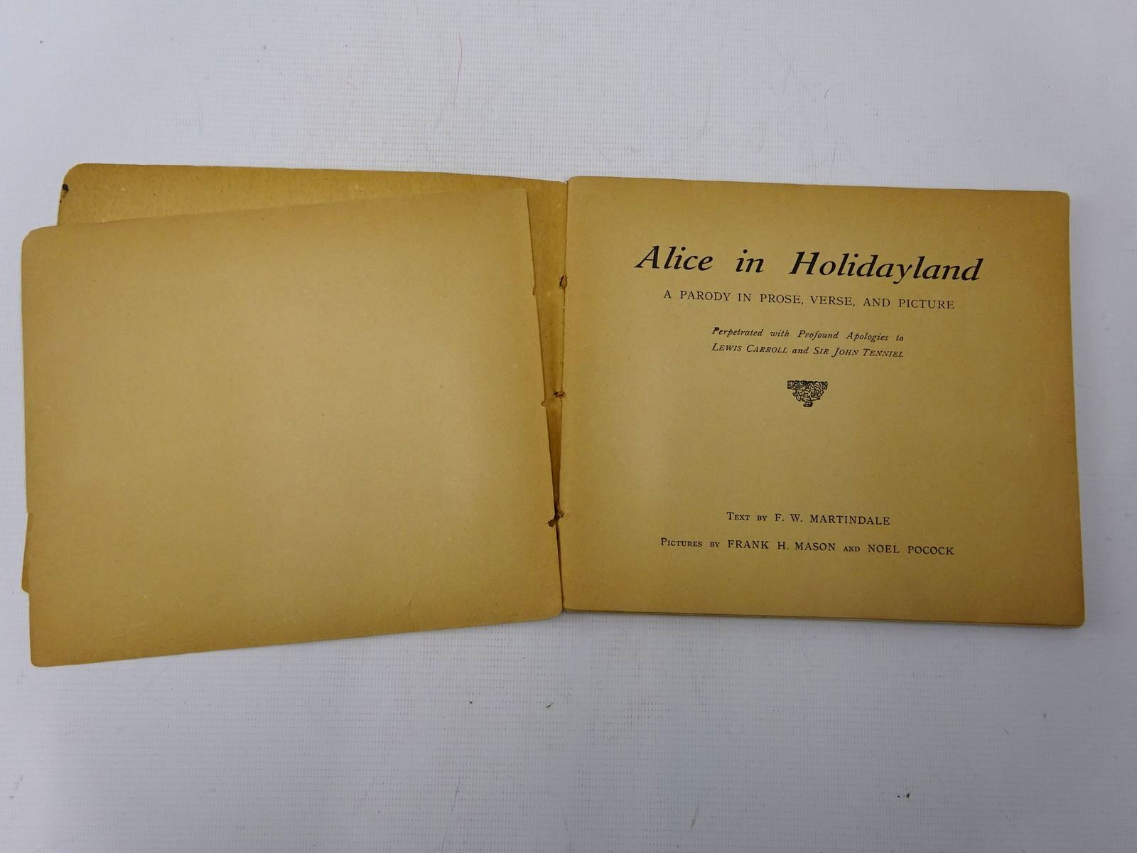 Photo of ALICE IN HOLIDAYLAND written by Martindale, F.W. illustrated by Mason, Frank H. Pocock, Noel published by Chorley & Pickersgill Ltd (STOCK CODE: 2127507)  for sale by Stella & Rose's Books
