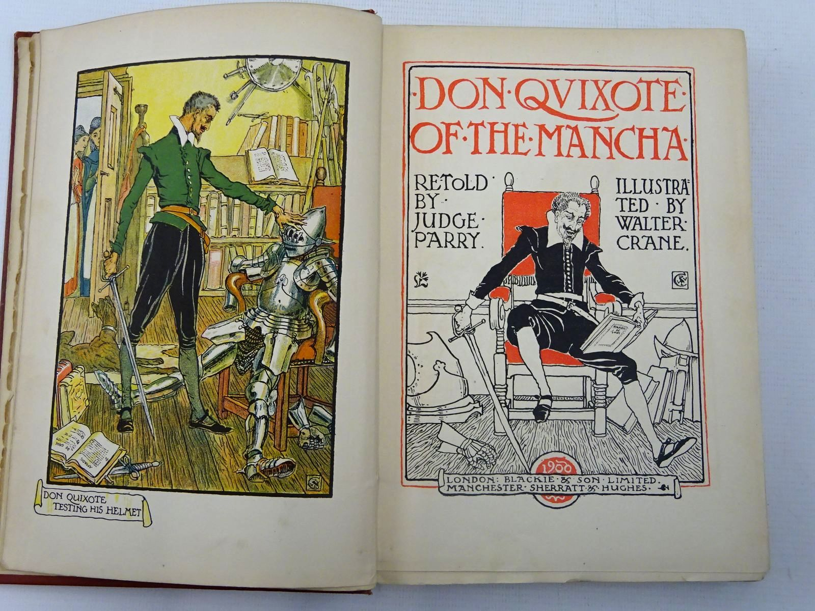 Photo of DON QUIXOTE OF THE MANCHA written by De Cervantes, Miguel Parry, Edward Abbott illustrated by Crane, Walter published by Blackie & Son Ltd., Sherratt & Hughes (STOCK CODE: 2127508)  for sale by Stella & Rose's Books