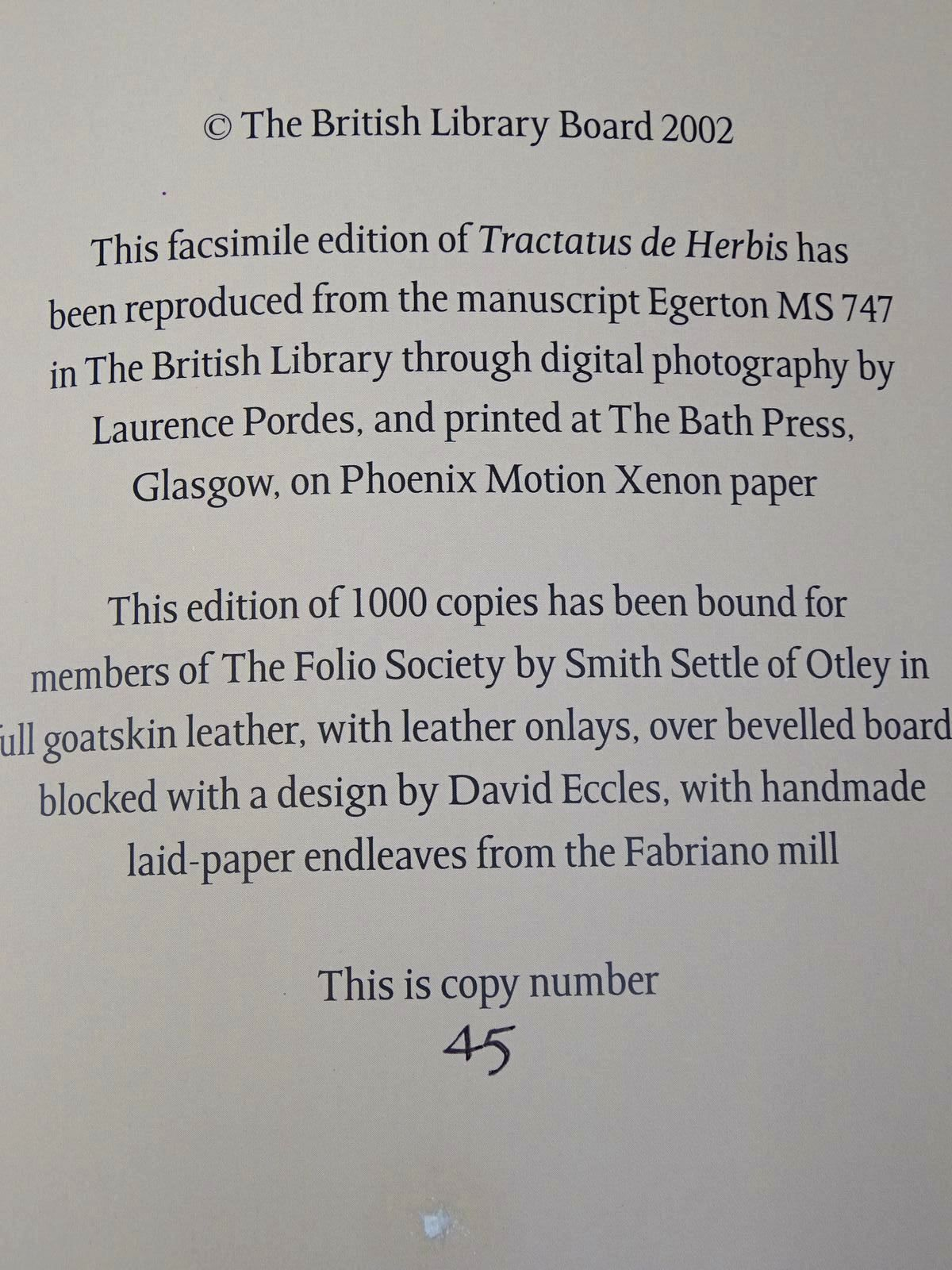 Photo of TRACTATUS DE HERBIS written by Collins, Minta