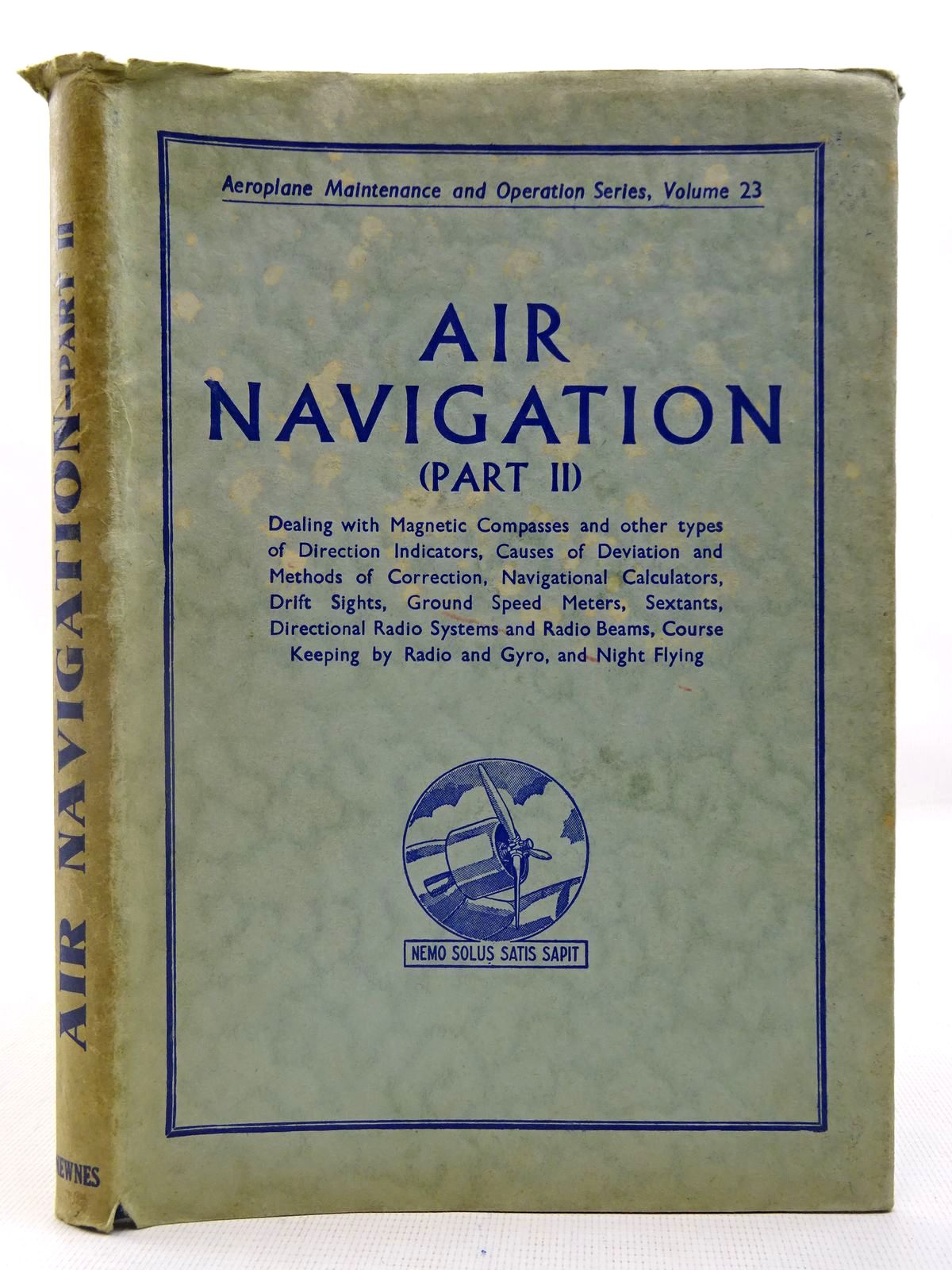 Photo of AIR NAVIGATION (PART 2) written by Molloy, E. published by George Newnes Limited (STOCK CODE: 2127576)  for sale by Stella & Rose's Books