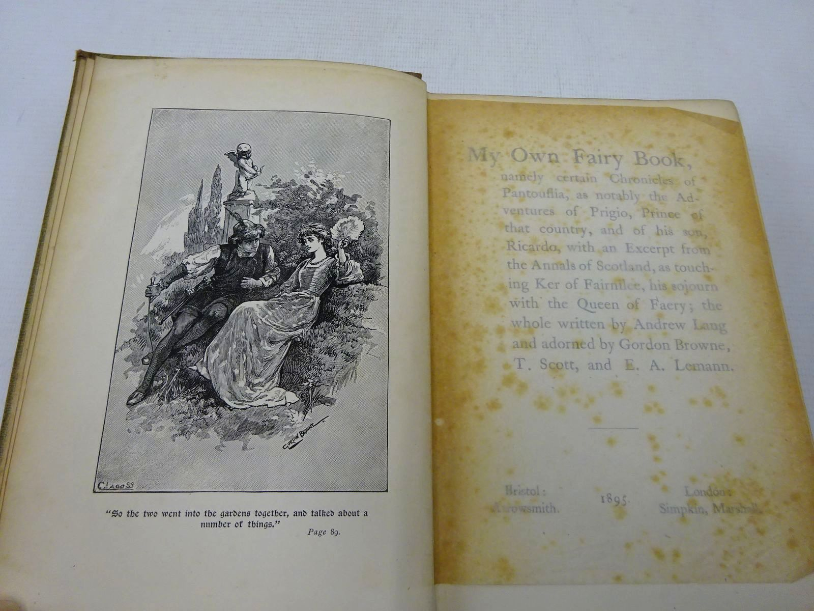 Photo of MY OWN FAIRY BOOK written by Lang, Andrew illustrated by Browne, Gordon et al., published by Arrowsmith (STOCK CODE: 2127766)  for sale by Stella & Rose's Books