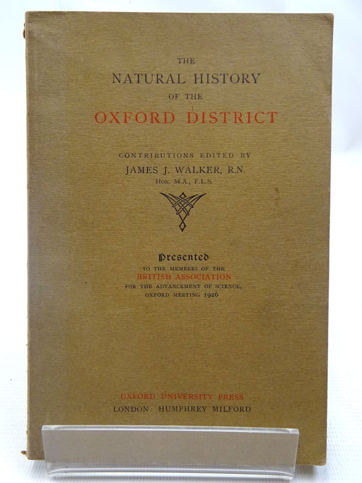 Photo of THE NATURAL HISTORY OF THE OXFORD DISTRICT- Stock Number: 2127987