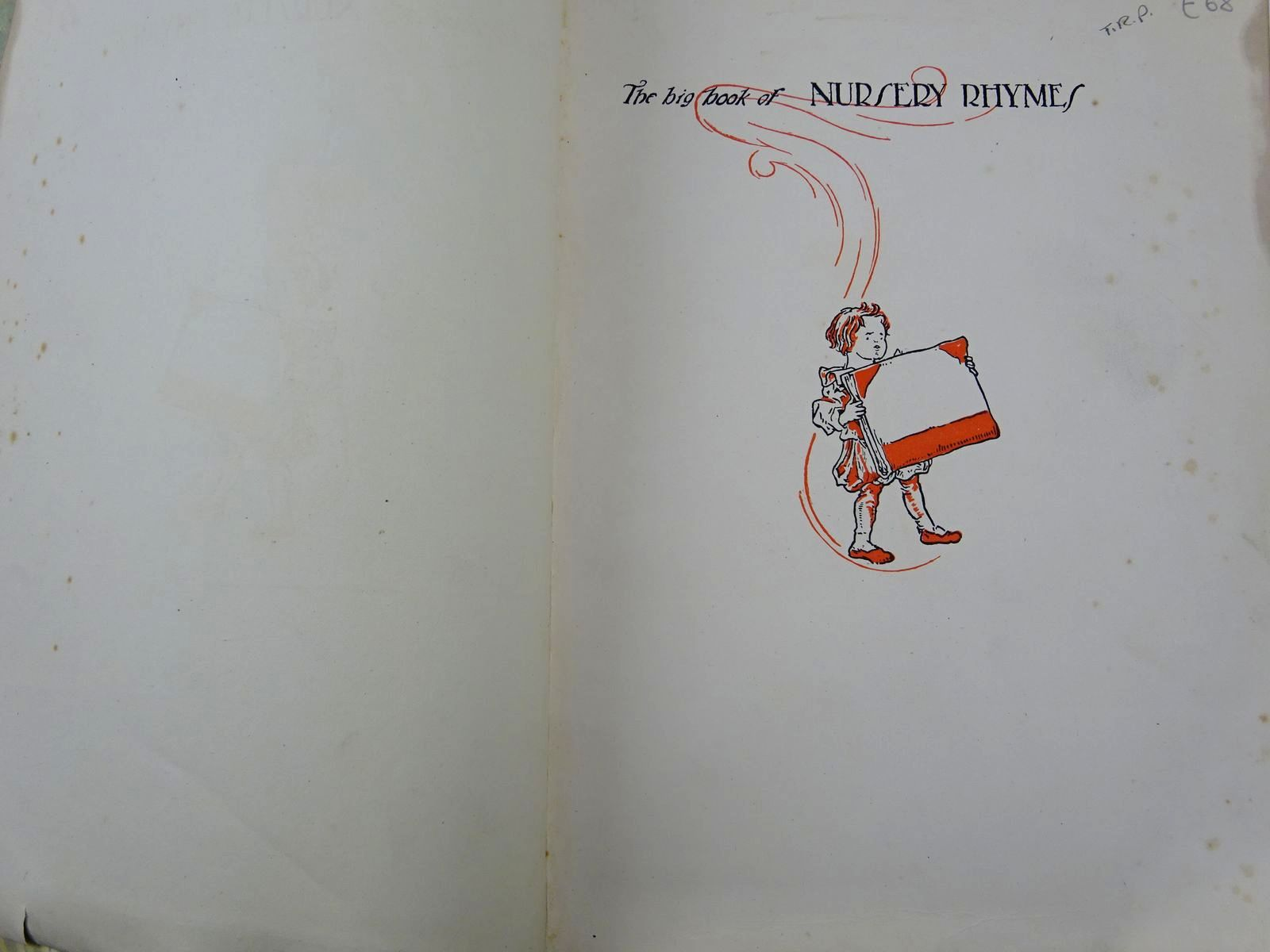 Photo of THE BIG BOOK OF NURSERY RHYMES written by Jerrold, Walter illustrated by Robinson, Charles published by Blackie & Son Ltd. (STOCK CODE: 2128140)  for sale by Stella & Rose's Books