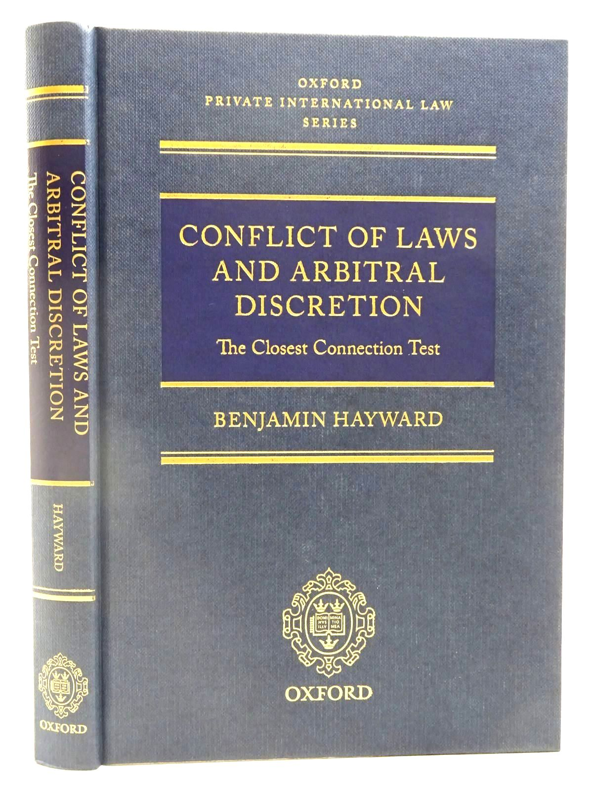 Photo of CONFLICT OF LAWS AND ARBITRAL DISCRETION- Stock Number: 2128155