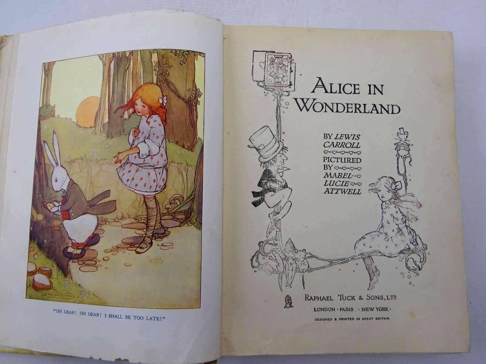 Photo of ALICE IN WONDERLAND written by Carroll, Lewis illustrated by Attwell, Mabel Lucie published by Raphael Tuck & Sons Ltd. (STOCK CODE: 2128225)  for sale by Stella & Rose's Books