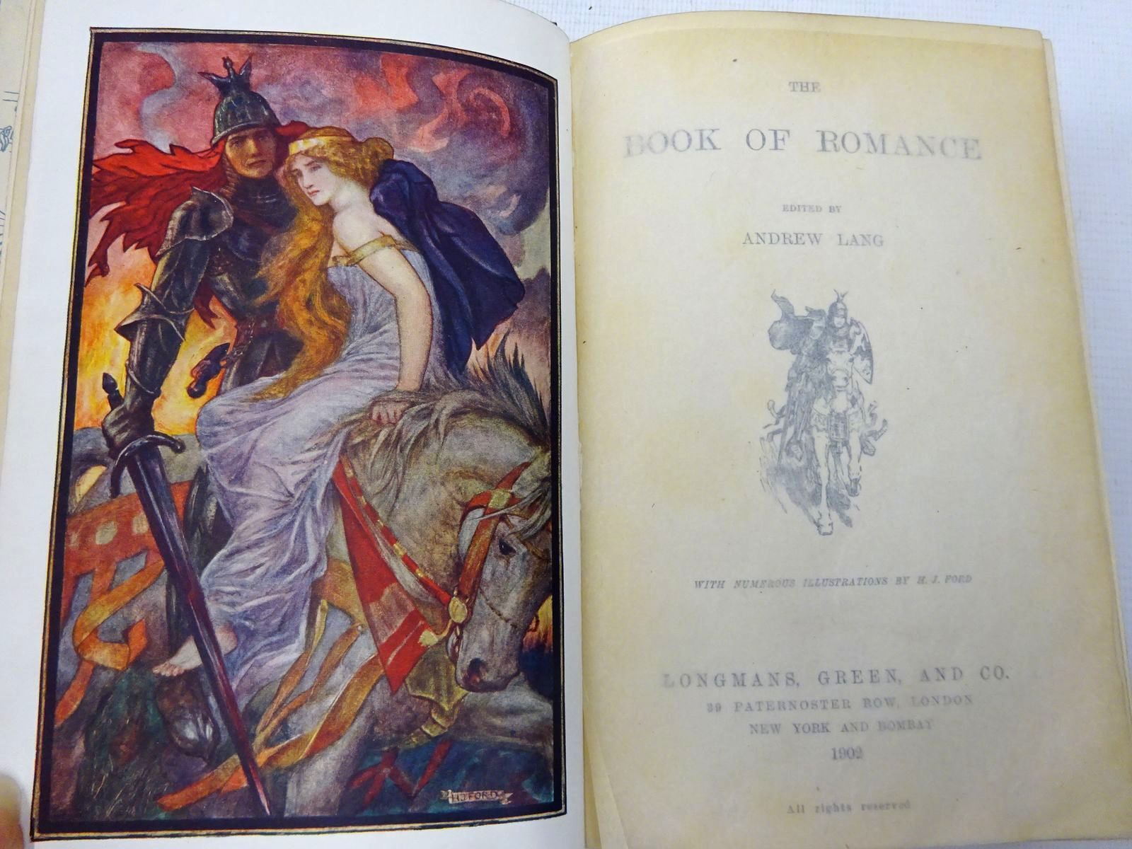Photo of THE BOOK OF ROMANCE written by Lang, Andrew illustrated by Ford, H.J. published by Longmans, Green & Co. (STOCK CODE: 2128231)  for sale by Stella & Rose's Books