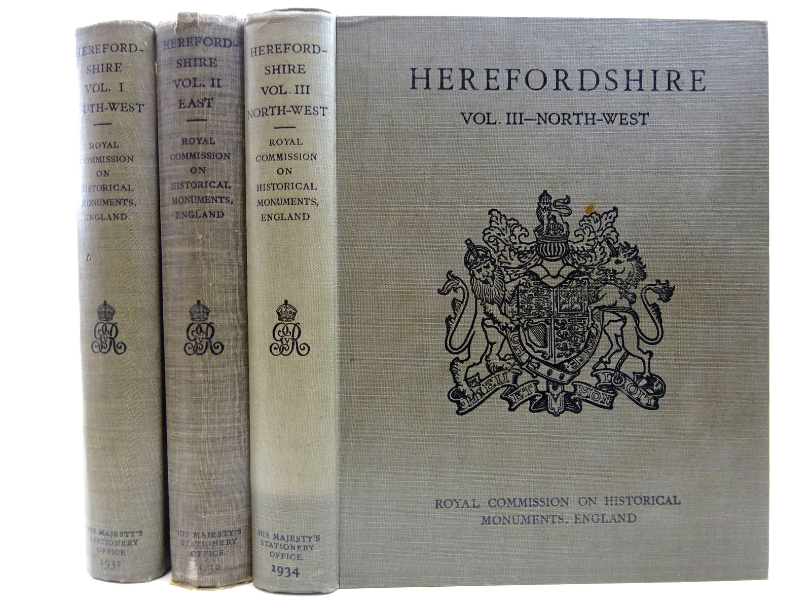 Photo of AN INVENTORY OF THE HISTORICAL MONUMENTS IN HEREFORDSHIRE (3 VOLUMES)- Stock Number: 2128332