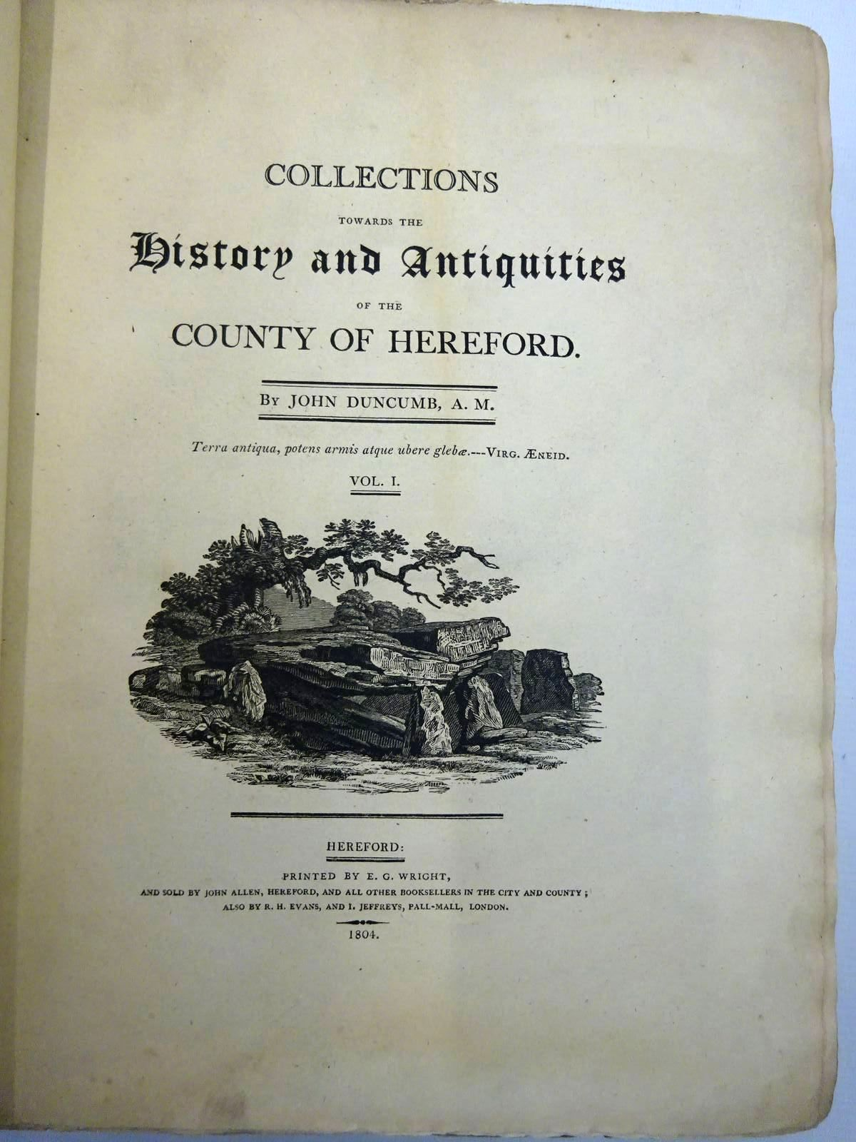 Photo of COLLECTIONS TOWARDS THE HISTORY AND ANTIQUITIES OF THE COUNTY OF HEREFORD (3 VOLUMES) written by Duncumb, John