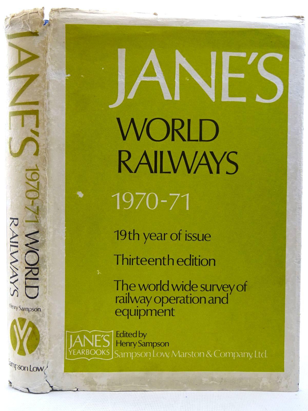 Photo of JANE'S WORLD RAILWAYS 1970-71- Stock Number: 2128518